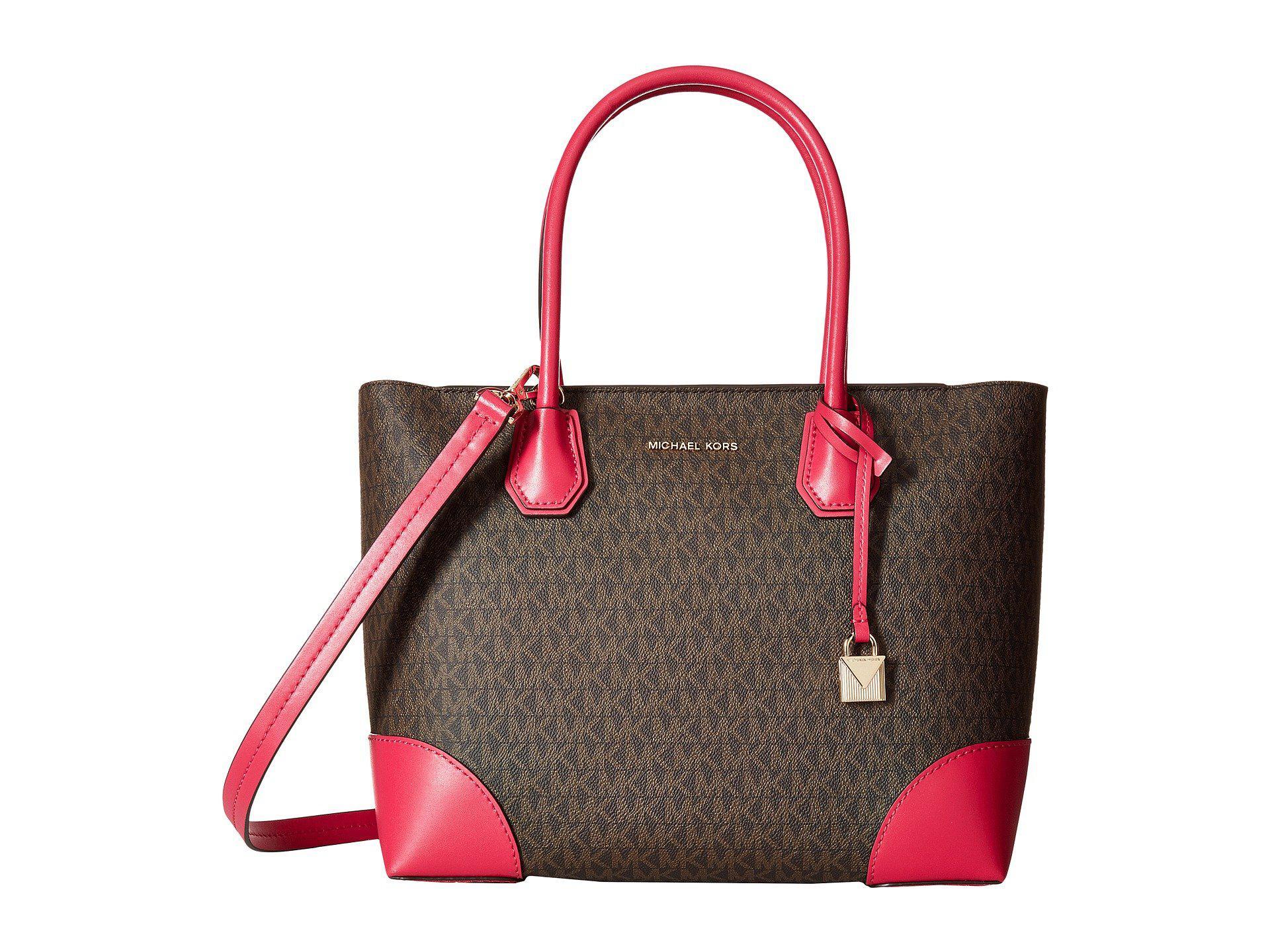 Mercer Gallery Large East-West Top Zip Tote Bag in Ultra Pink Mercer Pebble Leather Michael Michael Kors oEphbijD
