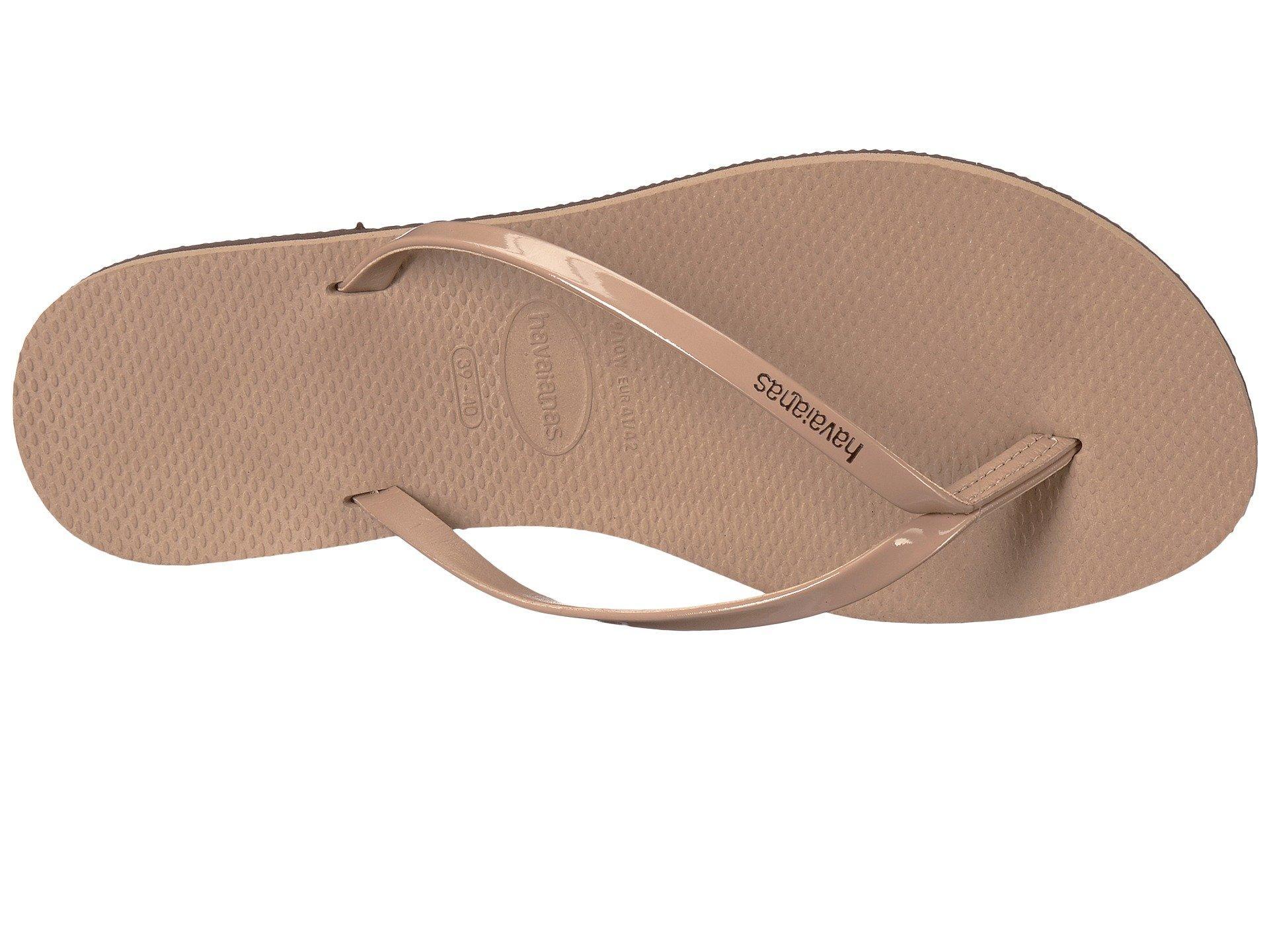 8bed78012c77 Lyst - Havaianas You Metallic Flip Flops (steel Blue) Women s Sandals