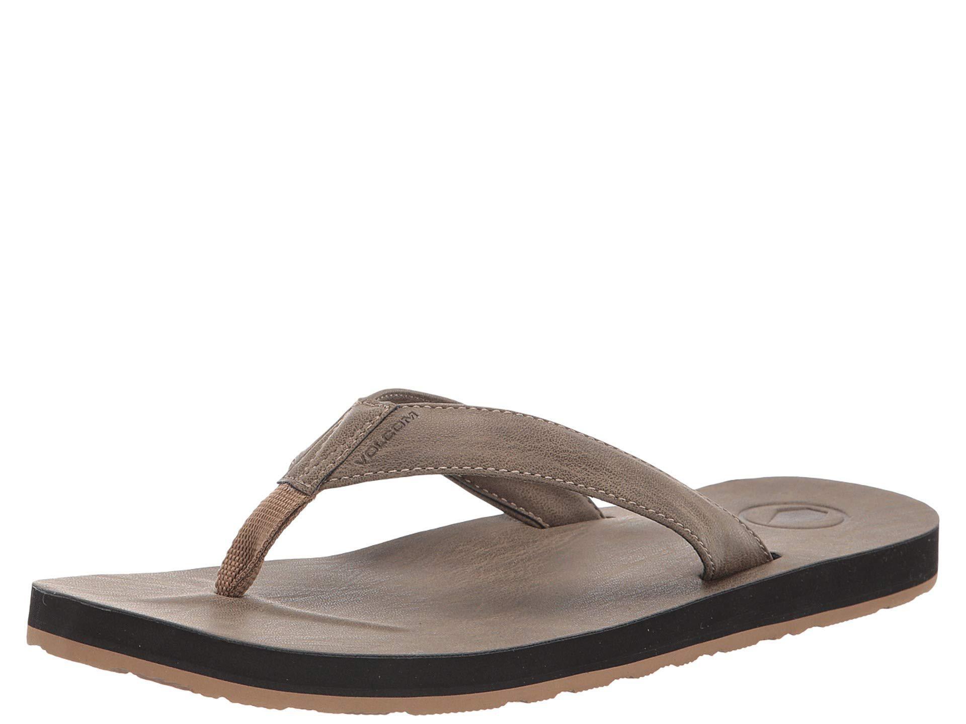 08e5fe1db33cf Volcom - Brown Fathom Sandal (black) Men s Shoes for Men - Lyst. View  fullscreen
