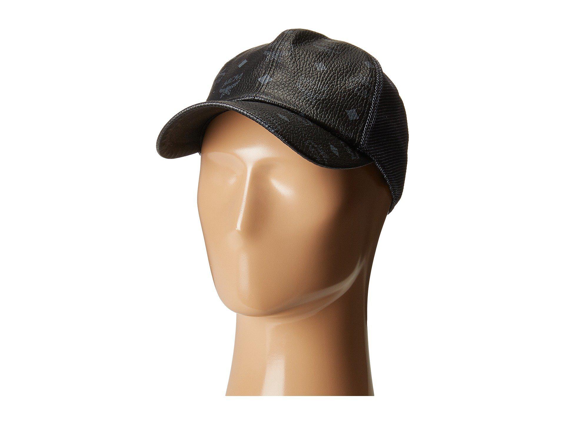 Lyst - Mcm Visetos Mesh Cap (black 1) Caps in Black for Men cac4a787c22f
