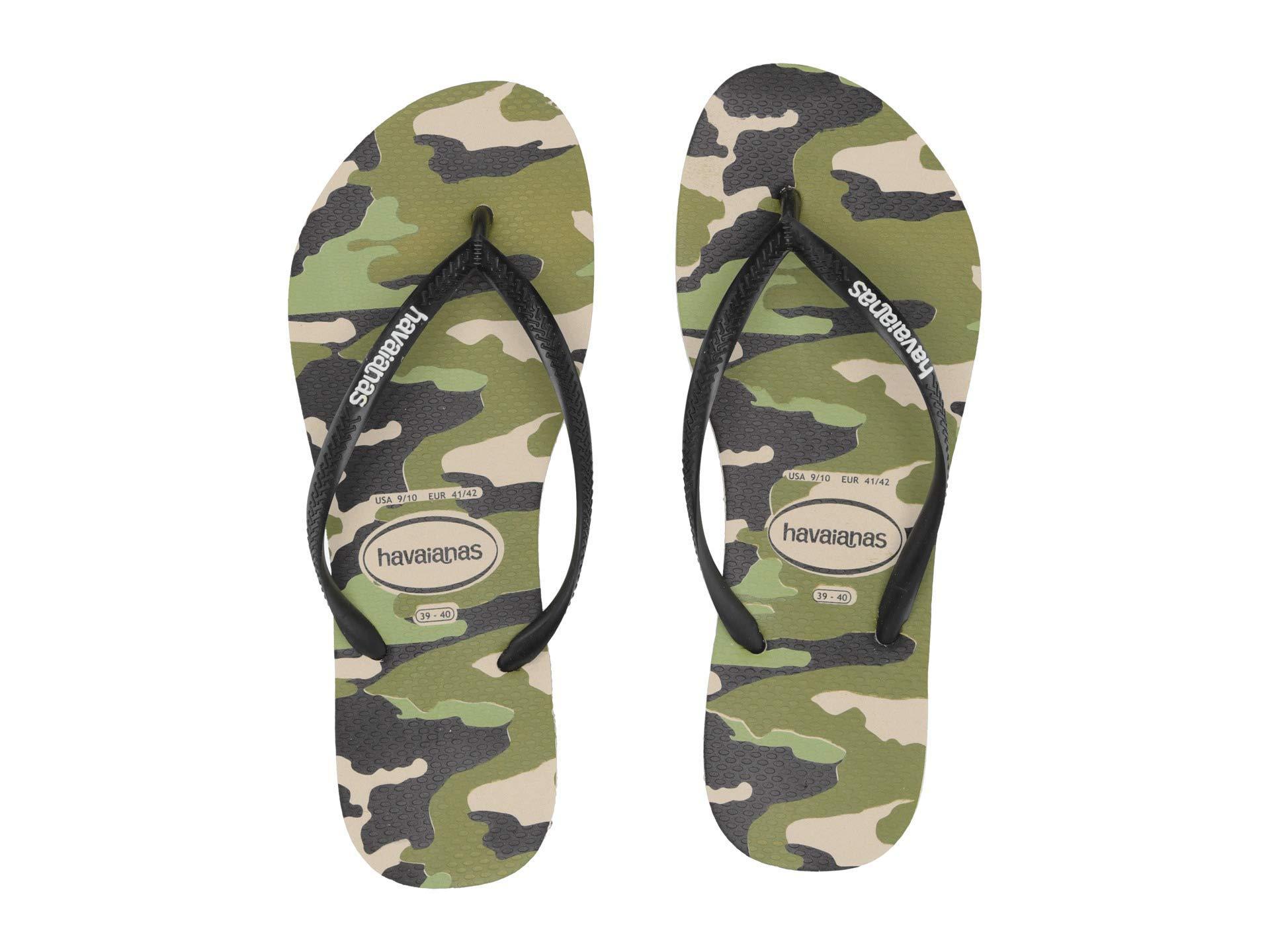 93b5e9205b8 Havaianas - Natural Slim Camo Sandal (beige black) Women s Sandals - Lyst.  View fullscreen