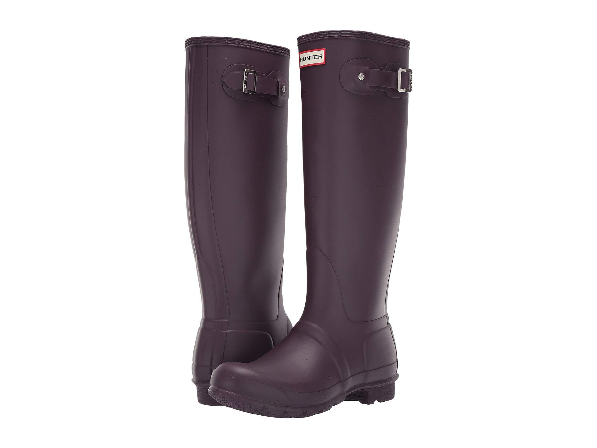 ff164f3b29f7 HUNTER Original Tall Rain Boots (black Grape) Women's Rain Boots in ...