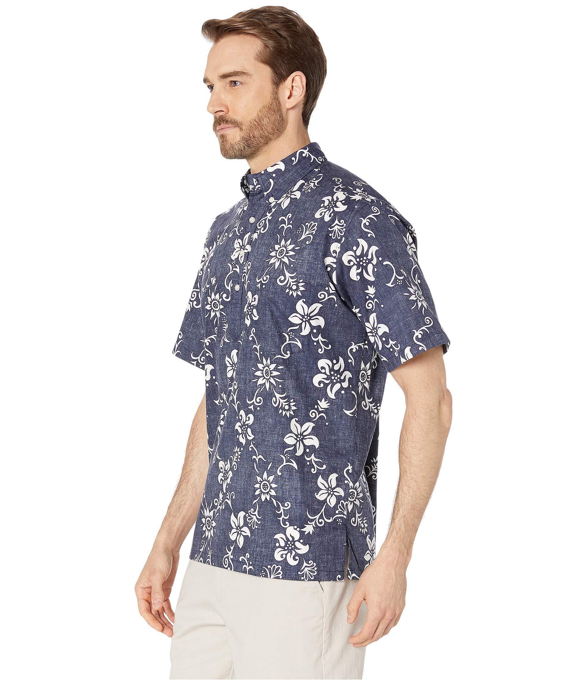 e0cf2d98 Reyn Spooner - Blue Phil Edwards Summer Pareau Popover Shirt (peacoat)  Men's Clothing for. View fullscreen
