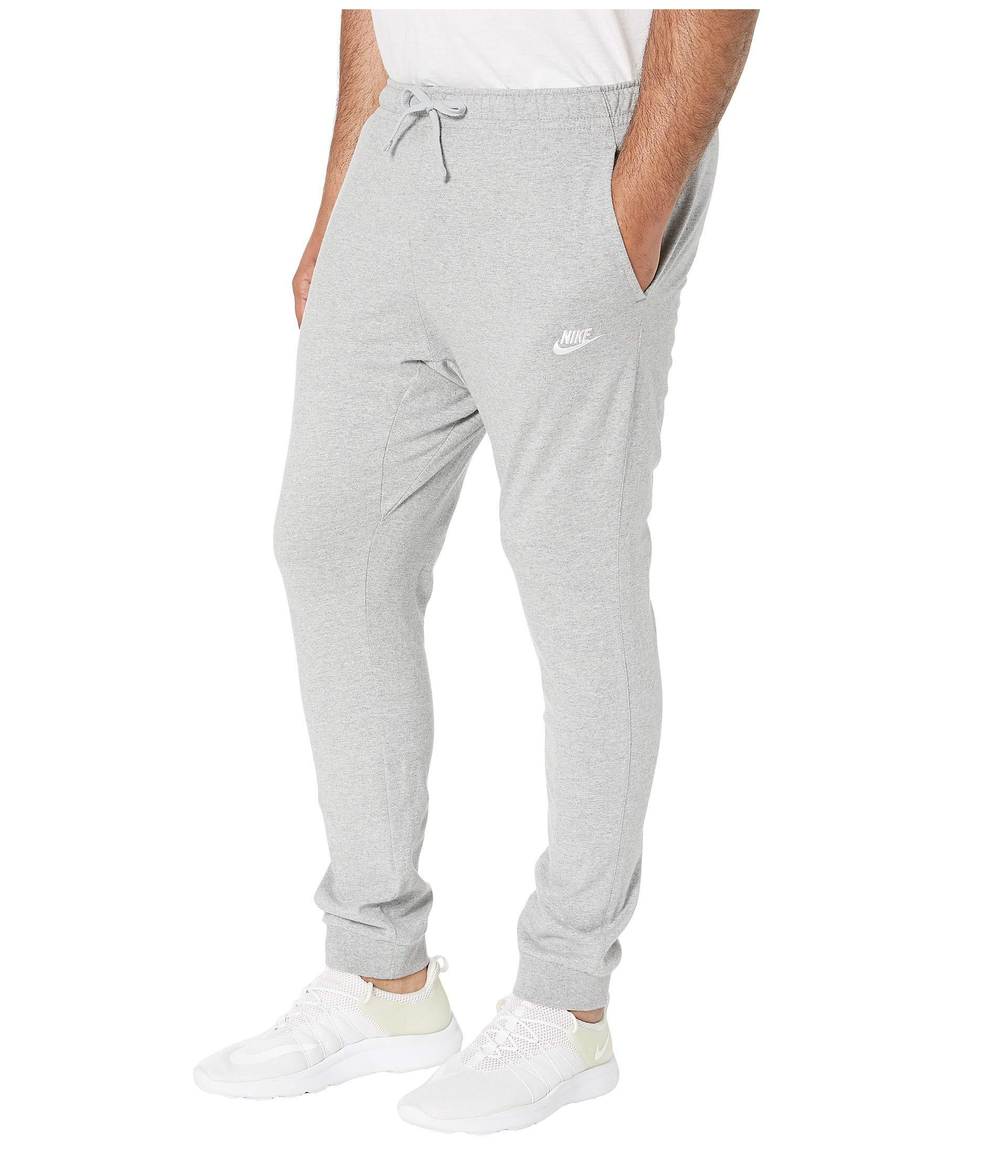 d656a1c8862f Lyst - Nike Big Tall Nsw Club Jersey Jogger (dark Grey Heather white) Men s  Casual Pants in Gray for Men