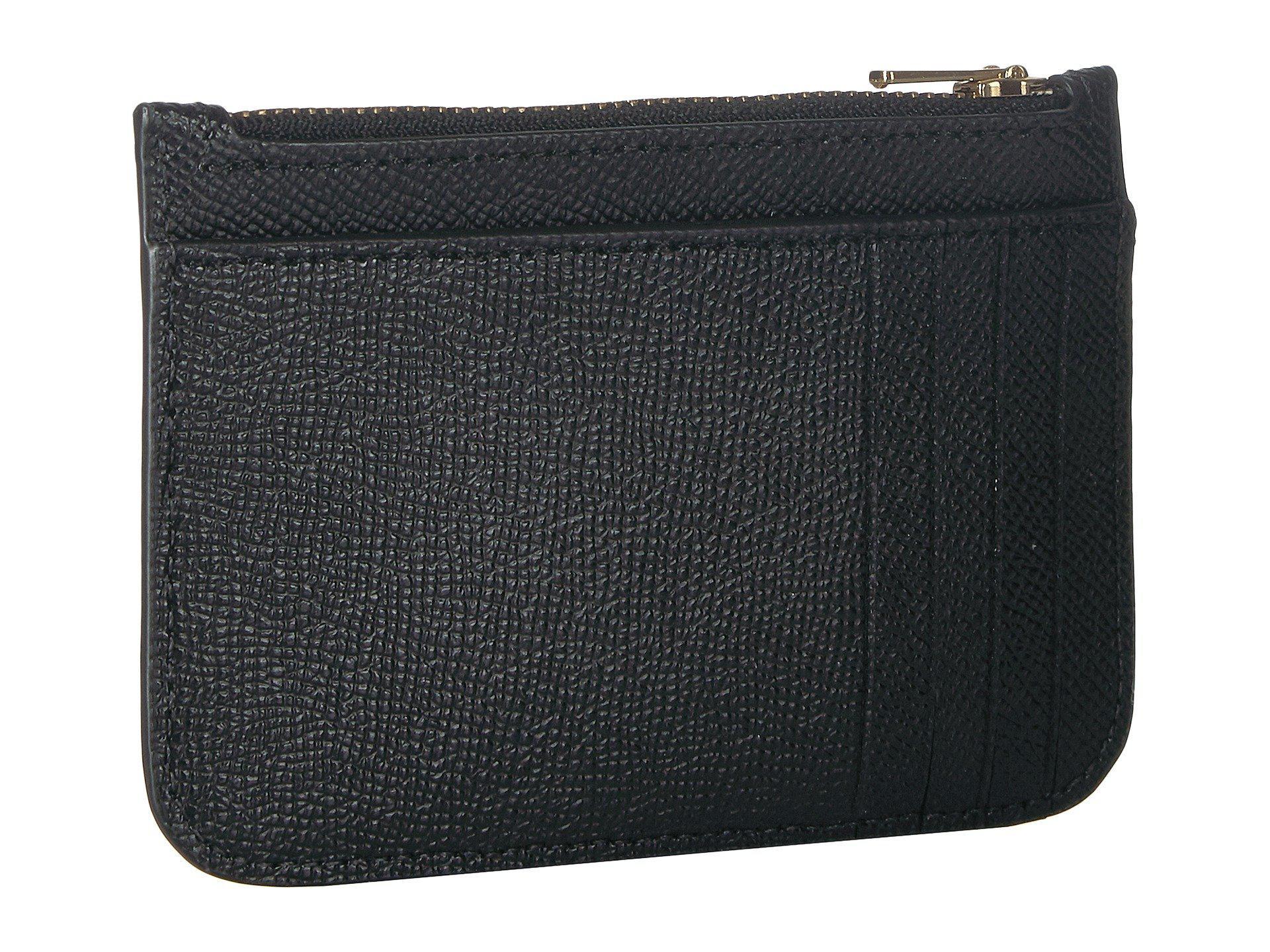 b08351ba86 COACH - Zip Card Case In Crossgrain Leather (li black) Credit Card Wallet.  View fullscreen