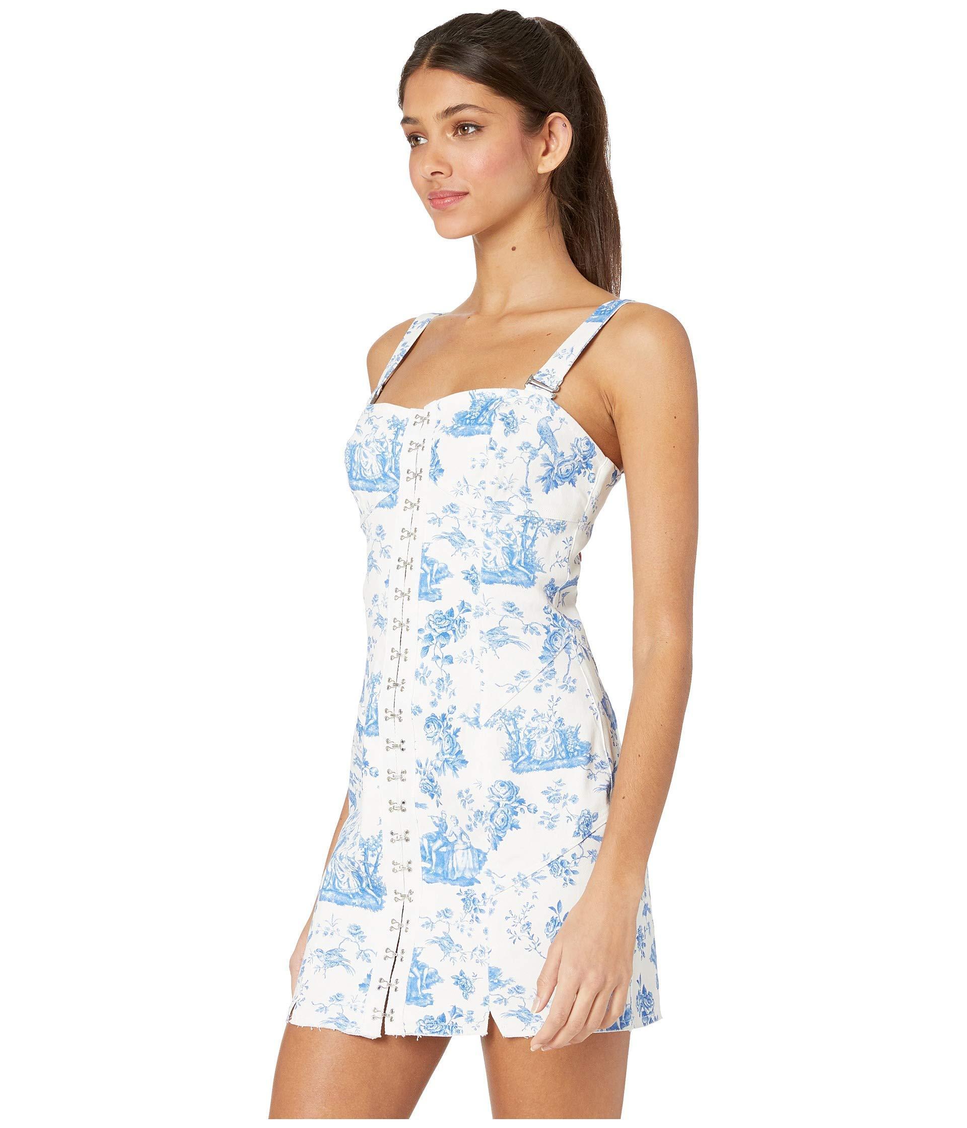 32bbce78ca3e For Love & Lemons X Revolve Monika Hook Front Mini Dress in Blue - Save 10%  - Lyst
