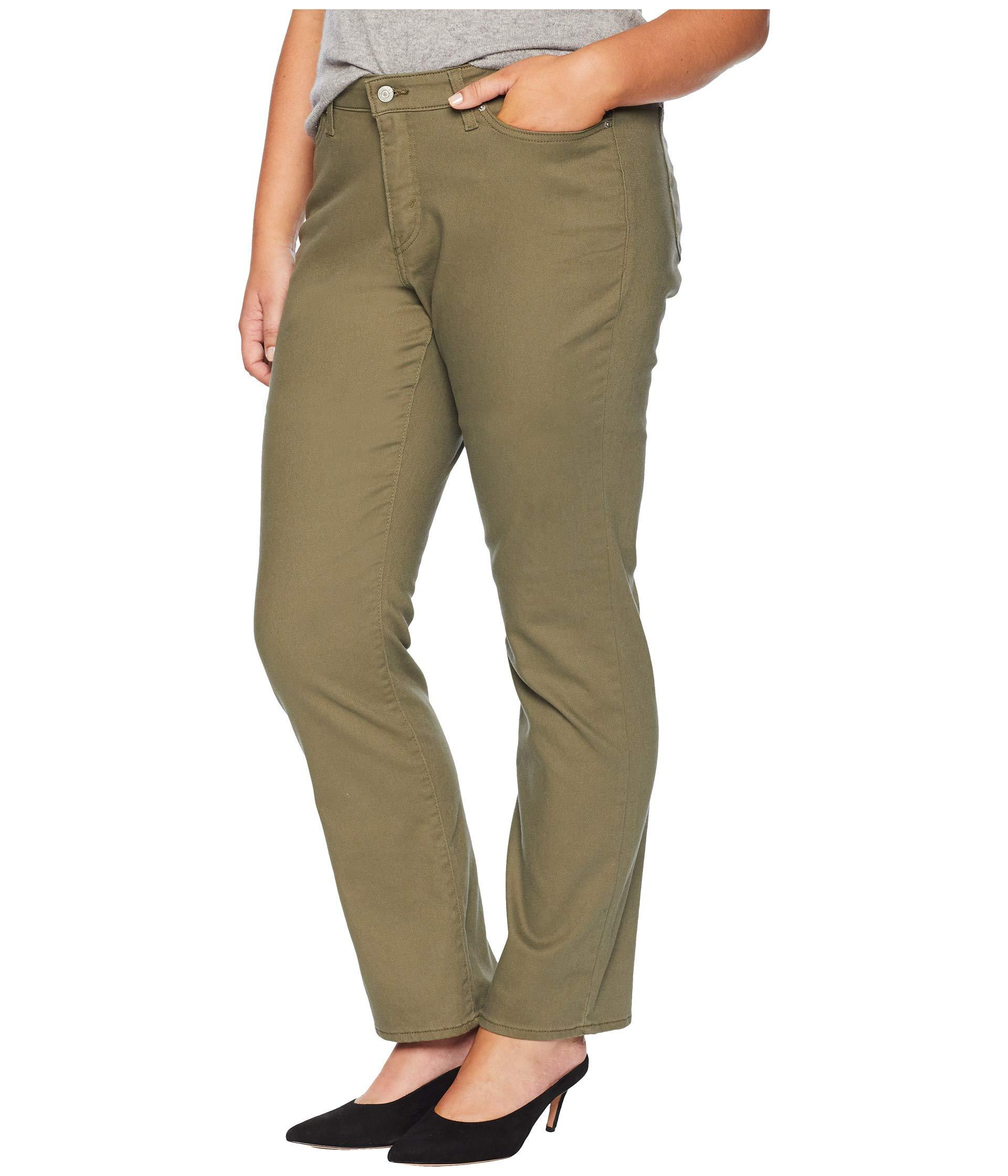 bbef0d326f7 Lyst - Levi S Levi s(r) Plus 414 Classic Straight (soft Black) Women s Jeans  in Green