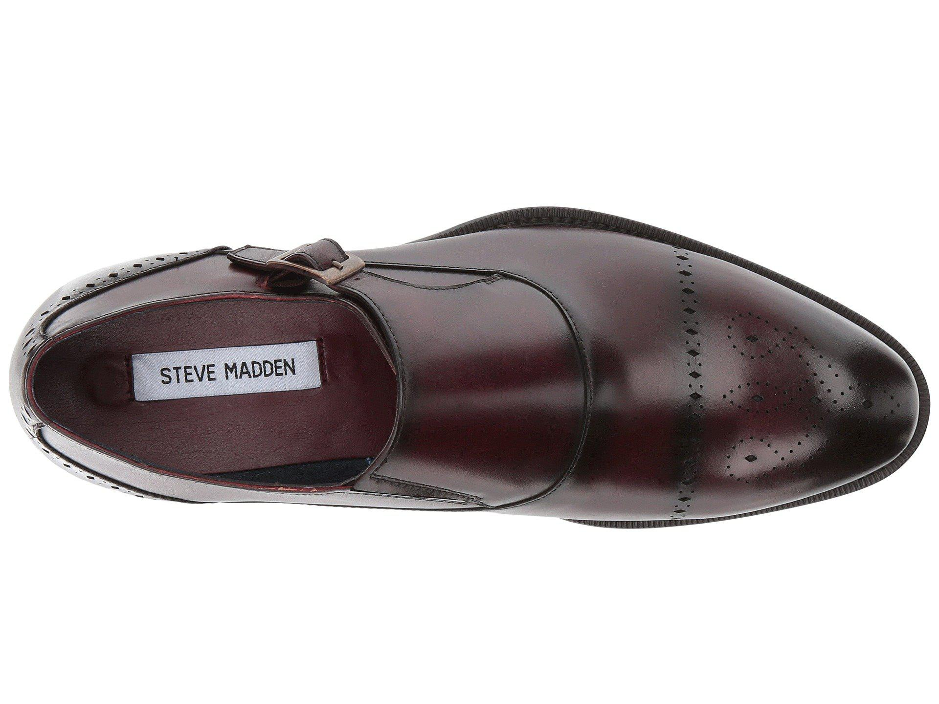 598dc857a9c Lyst - Steve Madden Caige (burgundy) Men s Shoes in Brown for Men