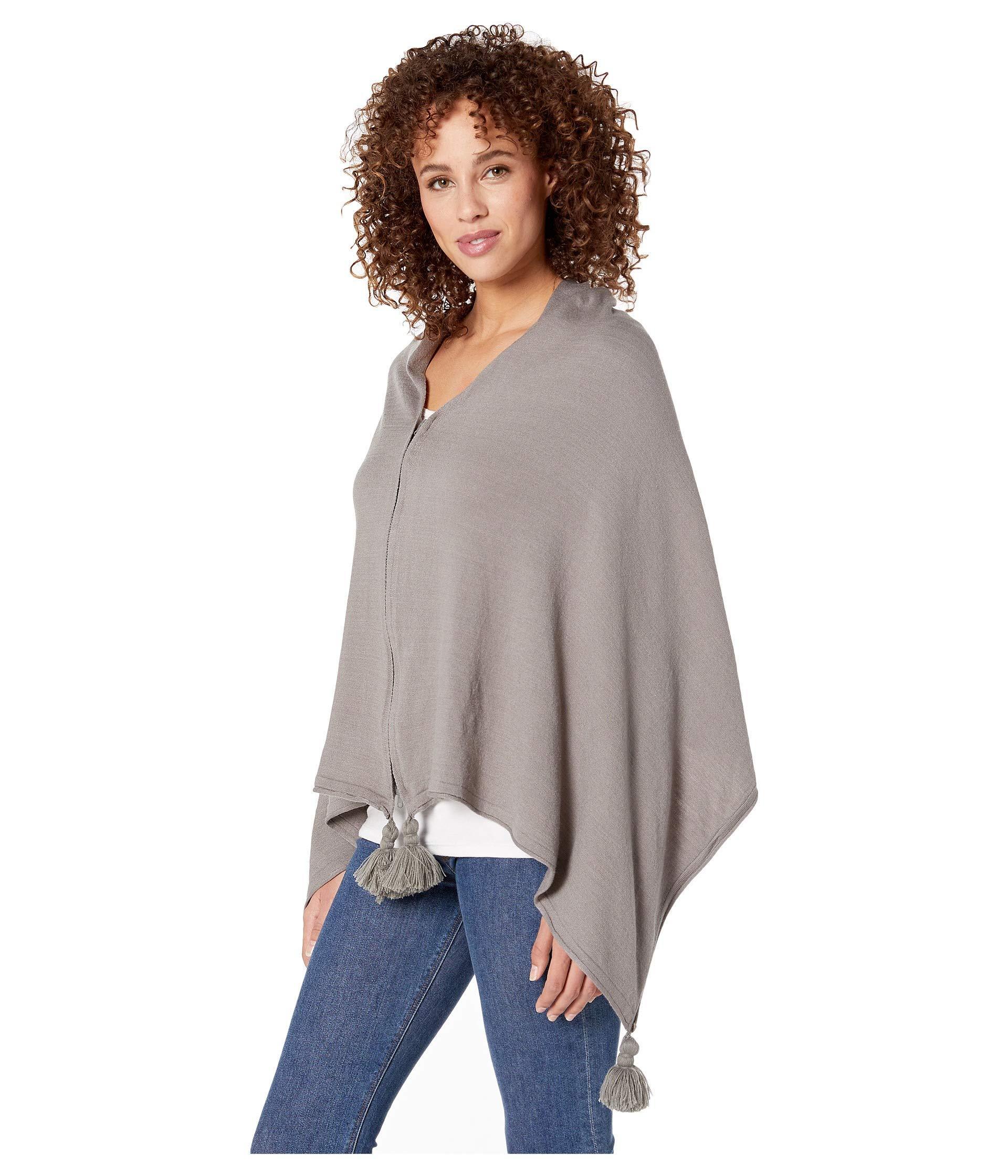 21756ac46fe Lyst - Michael Stars Tomlin Knit Tasseled Wrap (heather Grey) Scarves in  Gray