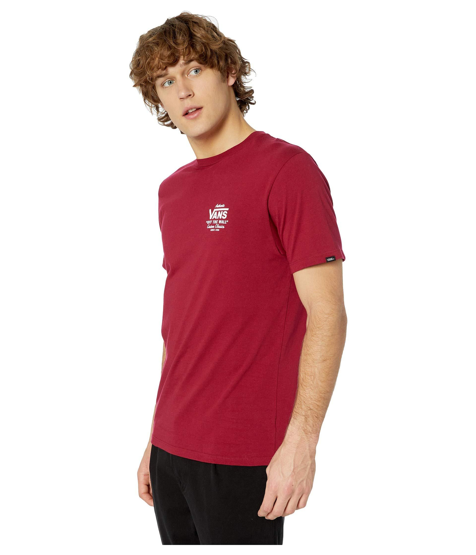 12eab5c80e Lyst - Vans Holder Street Ii Tee (rhumba Red white) Men s T Shirt in Red  for Men