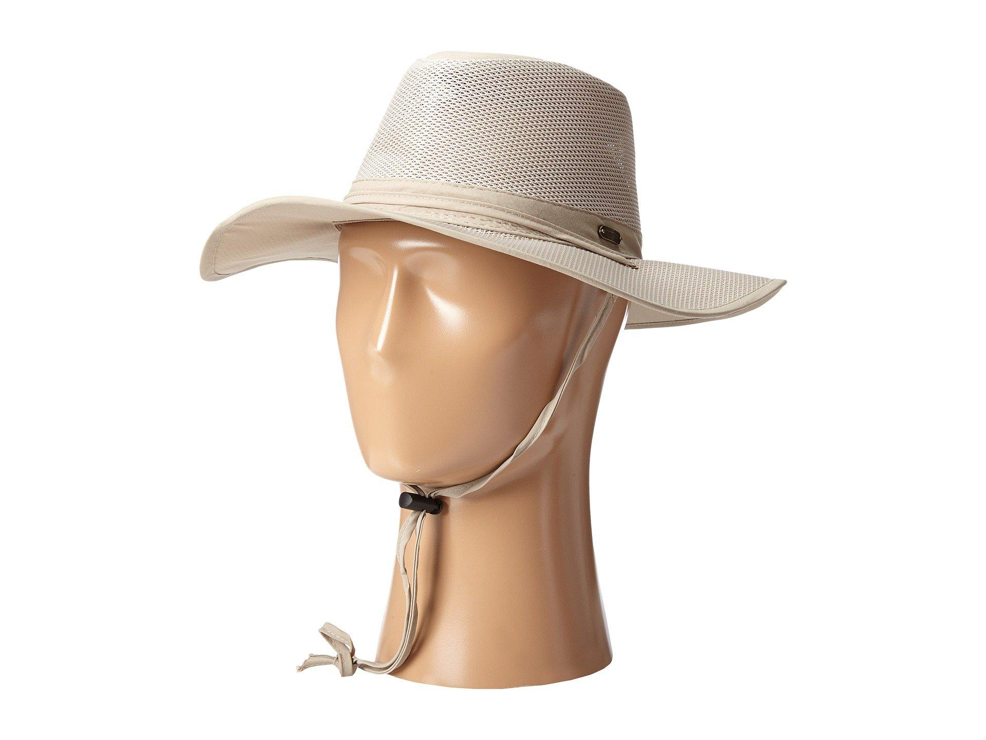 ac00eed5b4d95 Lyst - Stetson Big Brim Mesh Safari With No Fly Zone Insect Shield ...