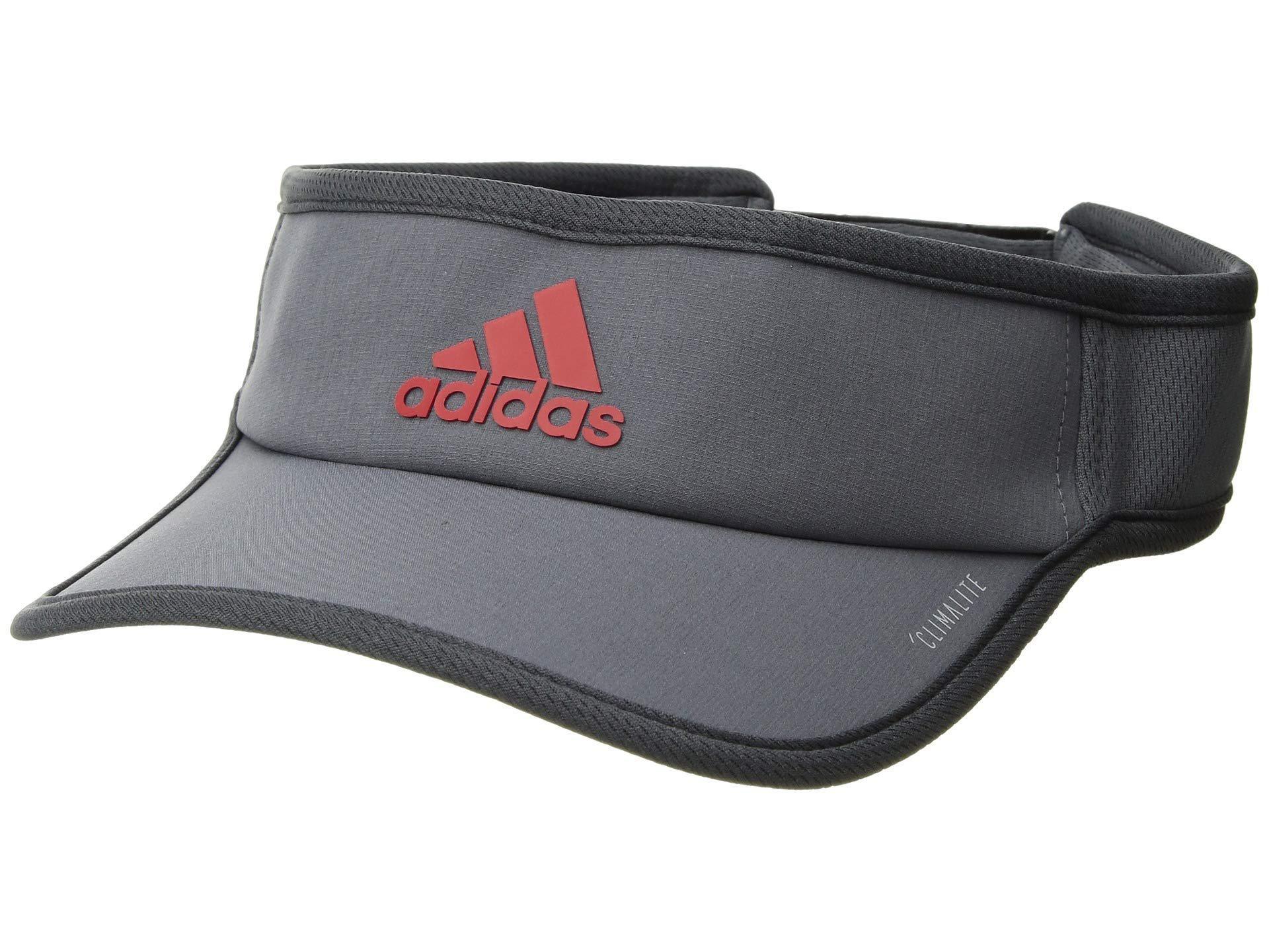 c1c8dea160e Adidas - Gray Superlite Visor Cap (black white) Caps for Men - Lyst. View  fullscreen