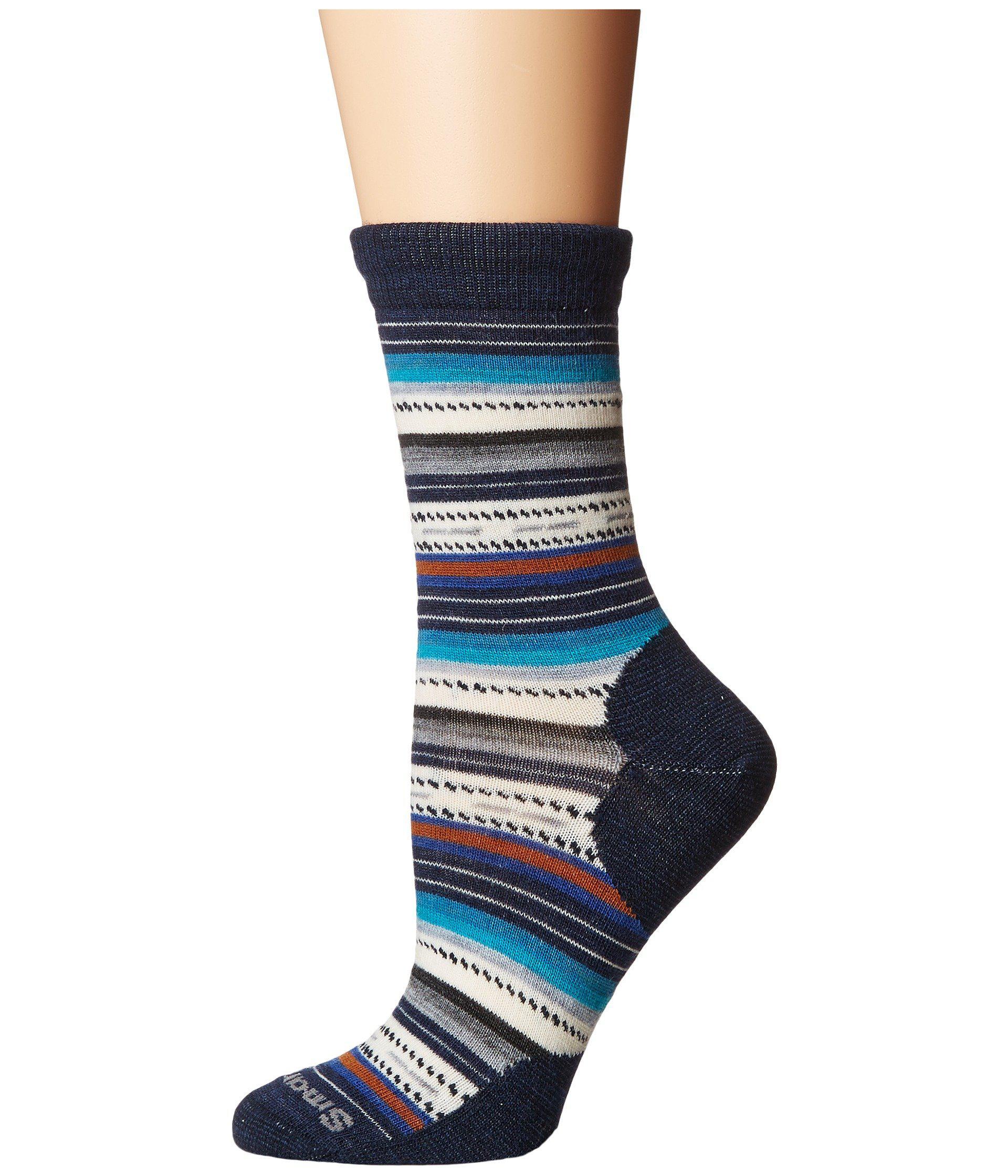 0cf10fd1c00 Smartwool. Blue Margarita (black Multi) Women s Crew Cut Socks Shoes