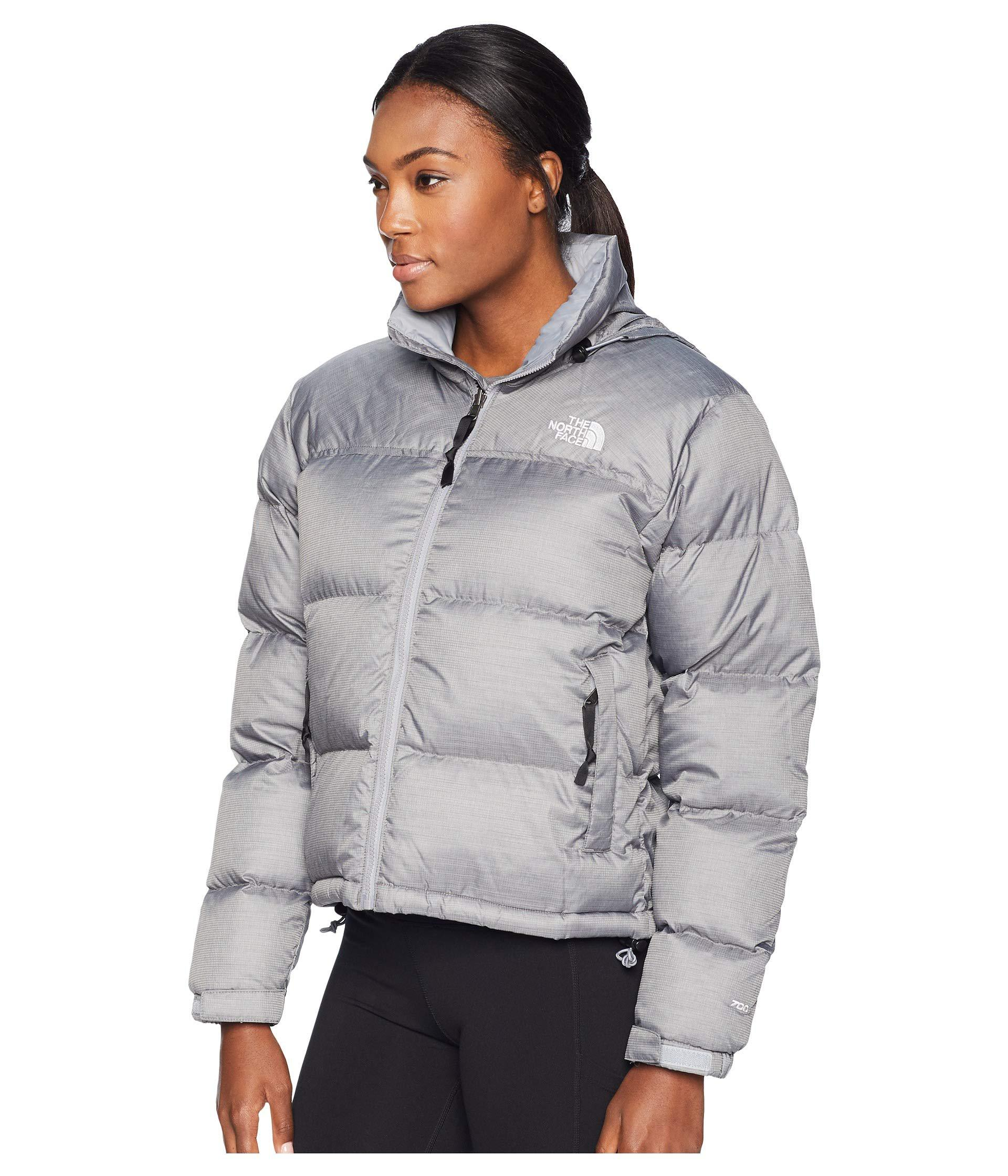 7a8f8af60a Lyst - The North Face 1996 Retro Nuptse Jacket (tnf White) Women s Coat in  Gray