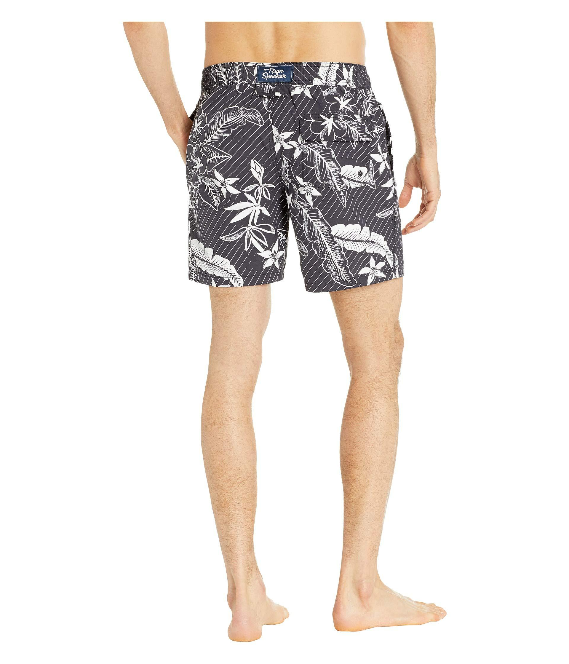 7cc2b8a41c Reyn Spooner Washed Waiola Swim Trunks (stretch Limo) Men's Swimwear ...