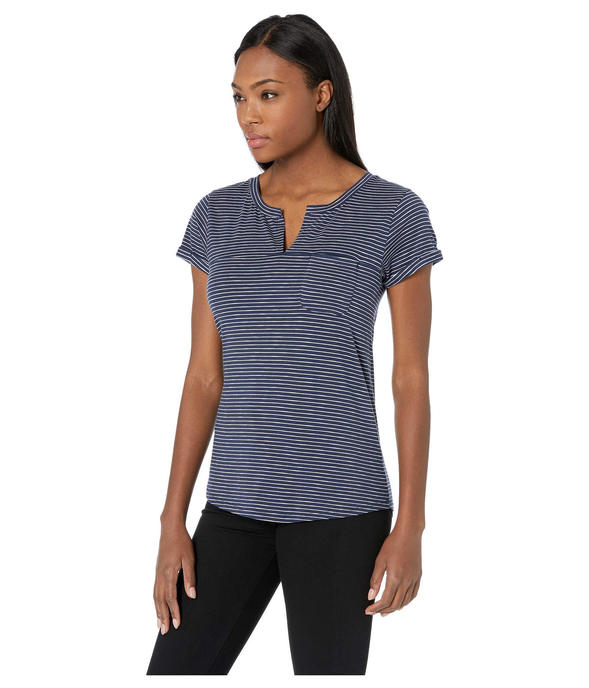6165abac46 Lyst - Toad&Co Sambasta Short Sleeve Tee (heather Grey Mini Stripe) Women's  T Shirt in Blue