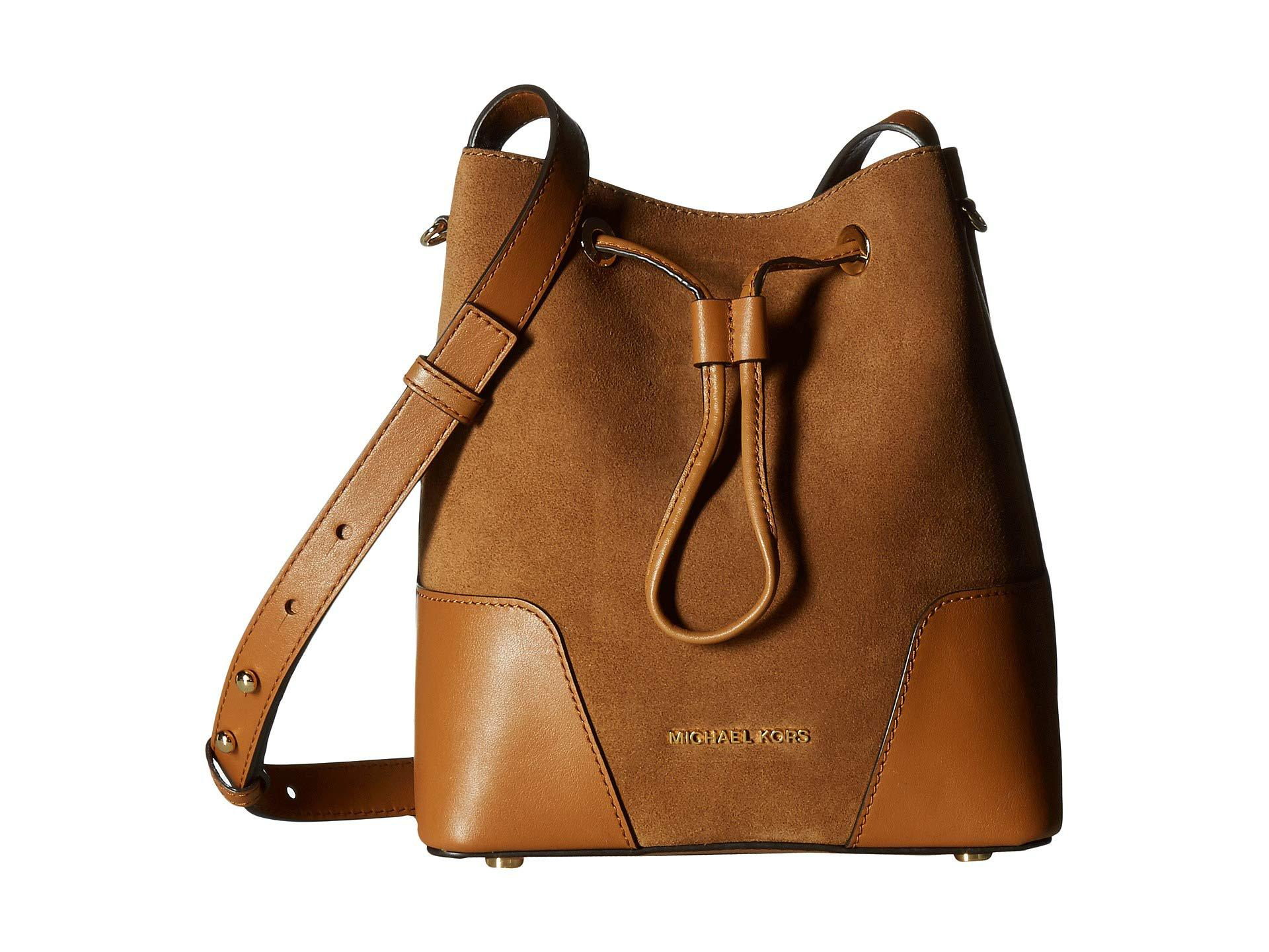 13674f14e7fe4 MICHAEL Michael Kors Cary Small Bucket Bag (dark Caramel) Bags in ...