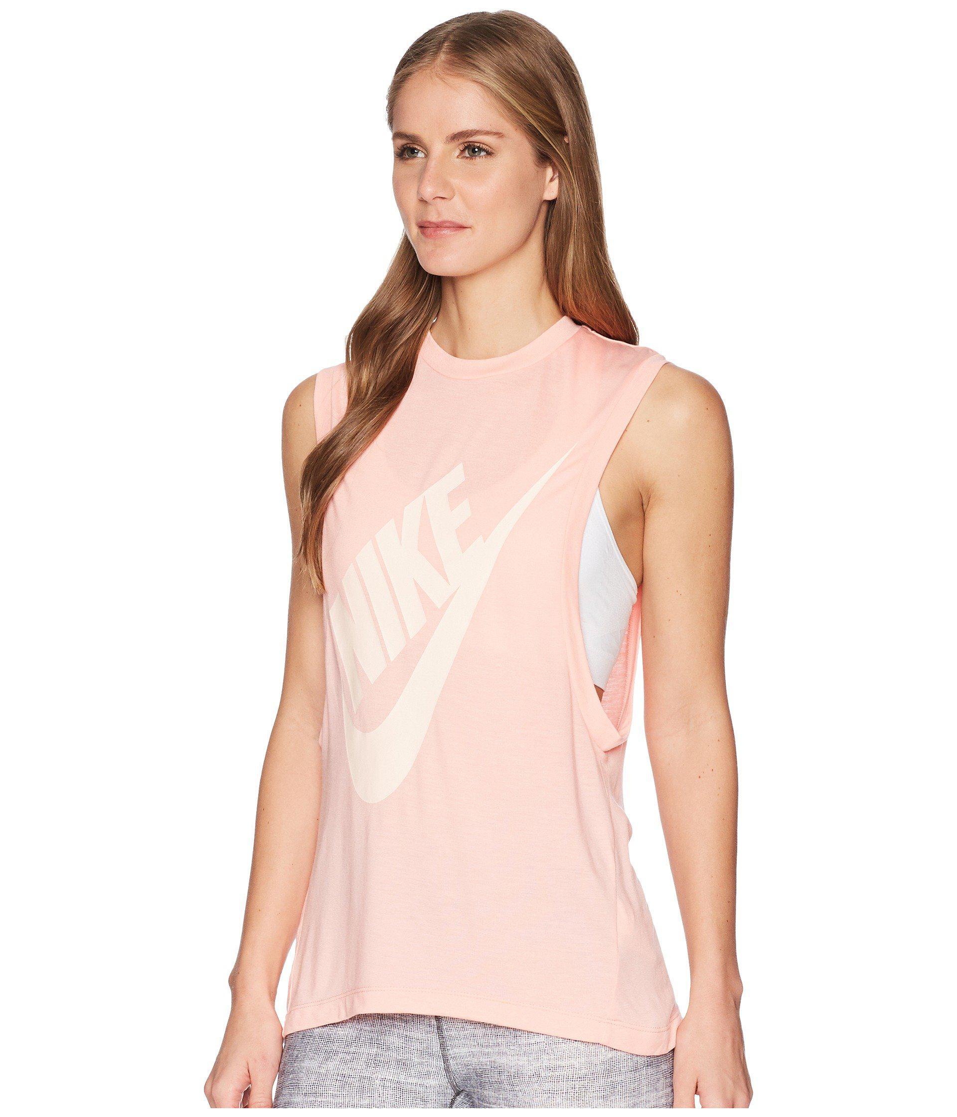 96c97fcca7 Nike Sportswear Essential Seasonal Tank Top (black/white) Women's ...