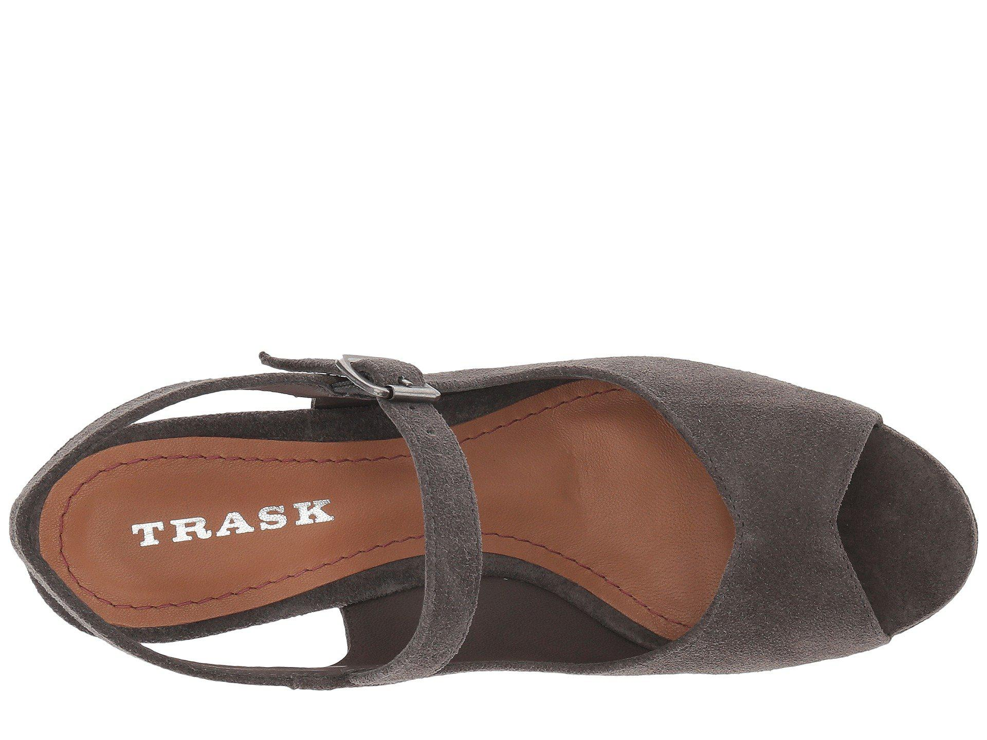 Lyst Trask Tessa (blush Oiled Suede) Donna Wedge Gris scarpe in Gris Wedge d88a99