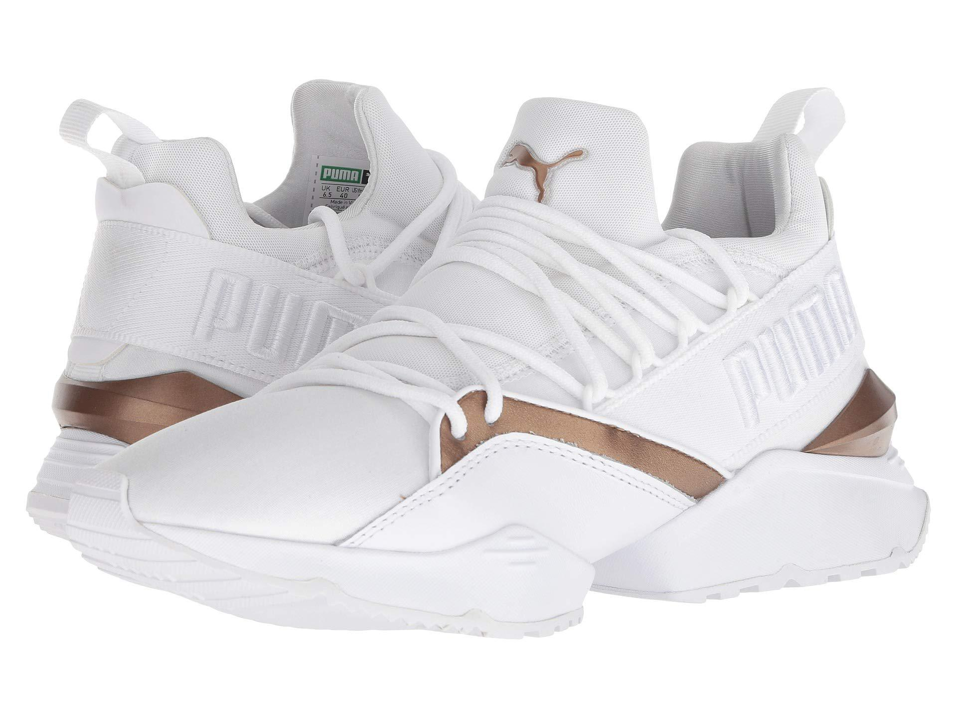 PUMA - Muse Maia Luxe ( White  White) Women s Lace Up Casual Shoes -. View  fullscreen 416516a38