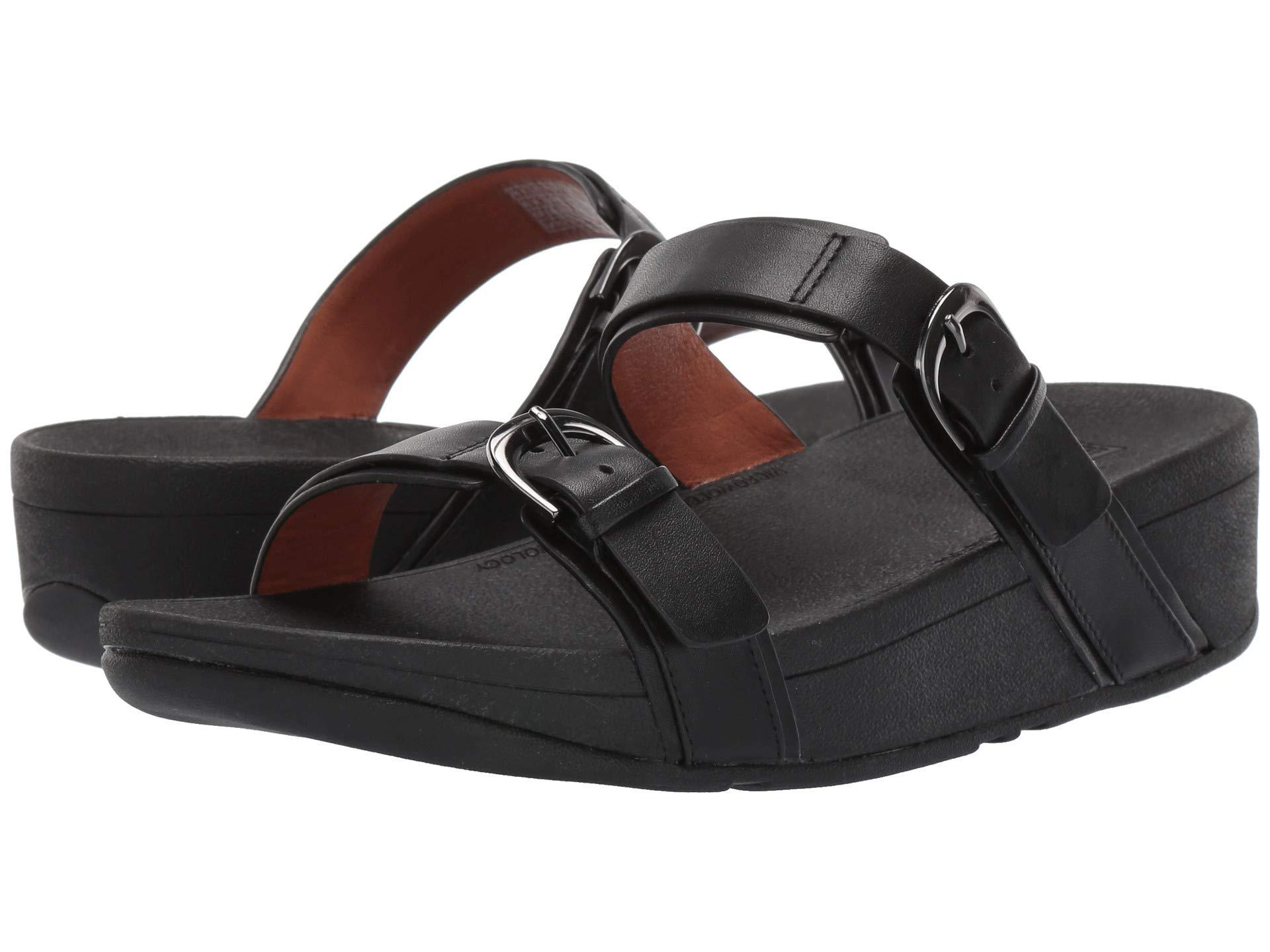 4241007bb Lyst - Fitflop Edit Slide in Black - Save 8%