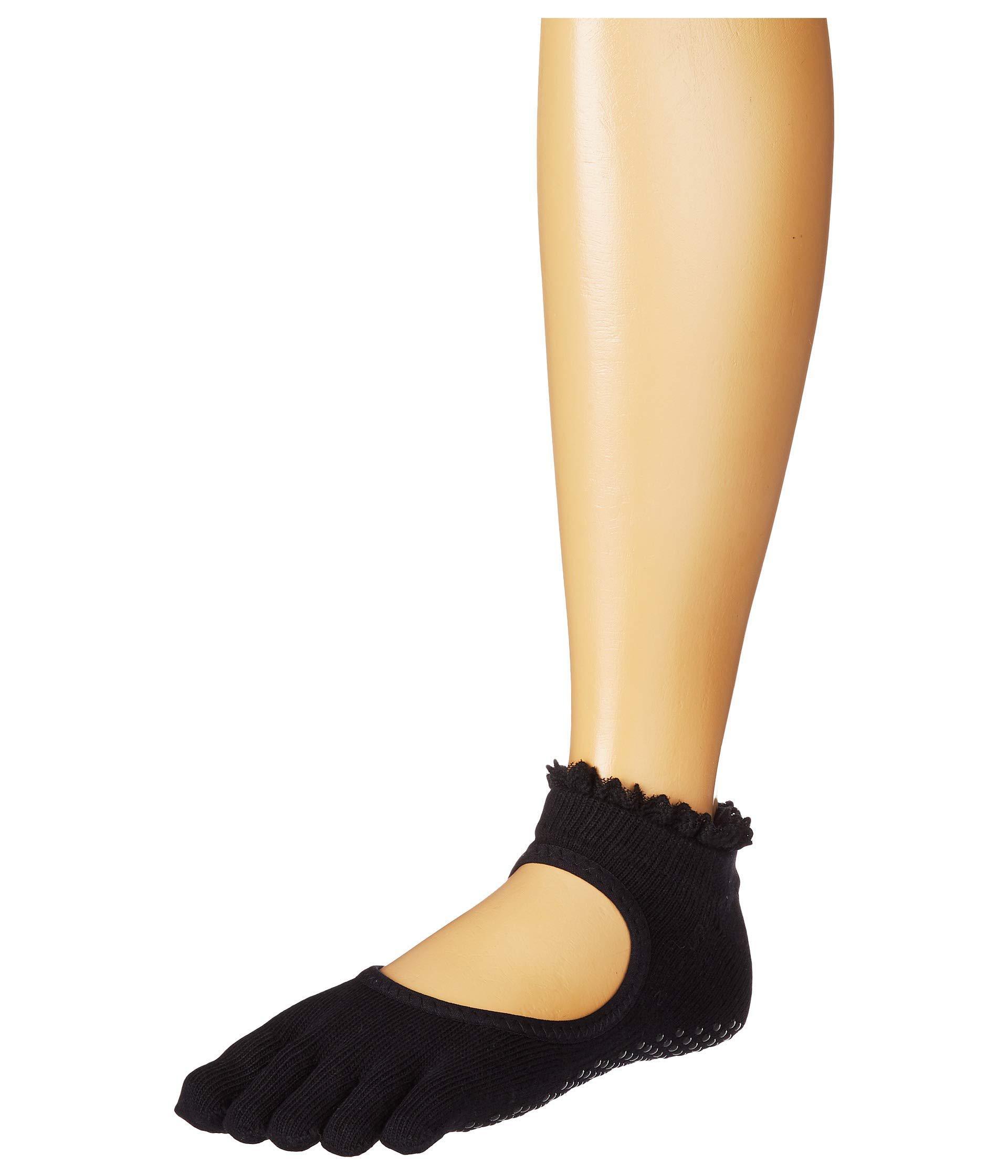 6c1ce7396 Lyst - ToeSox Bella Full Toe W/ Grip (midnight Lace) Women's No Show ...