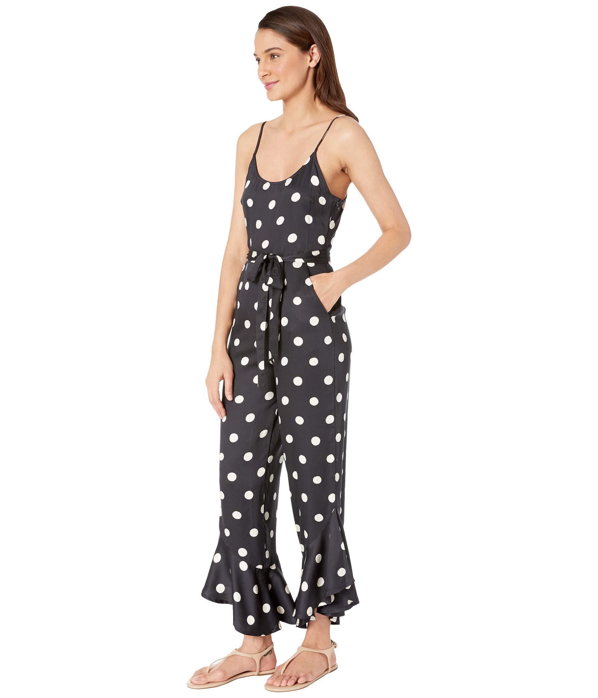 bbe9ce99123 Lyst - Billabong Jump In Polka Dot Jumpsuit in Black
