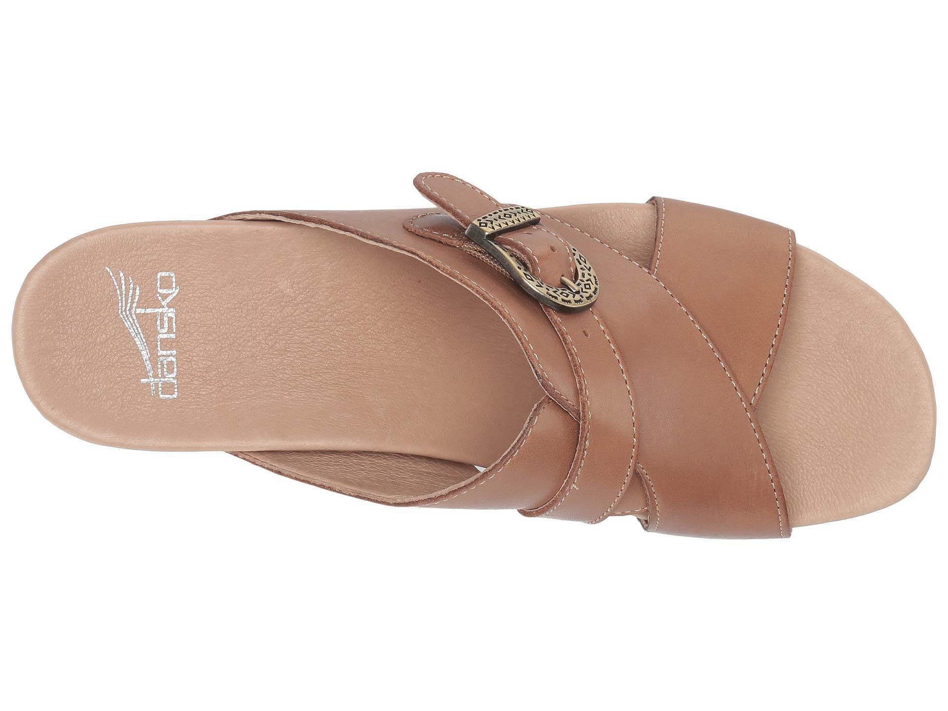 e69255a259fc Lyst - Dansko Amy (tan Burnished Calf) Women s Dress Sandals in Brown
