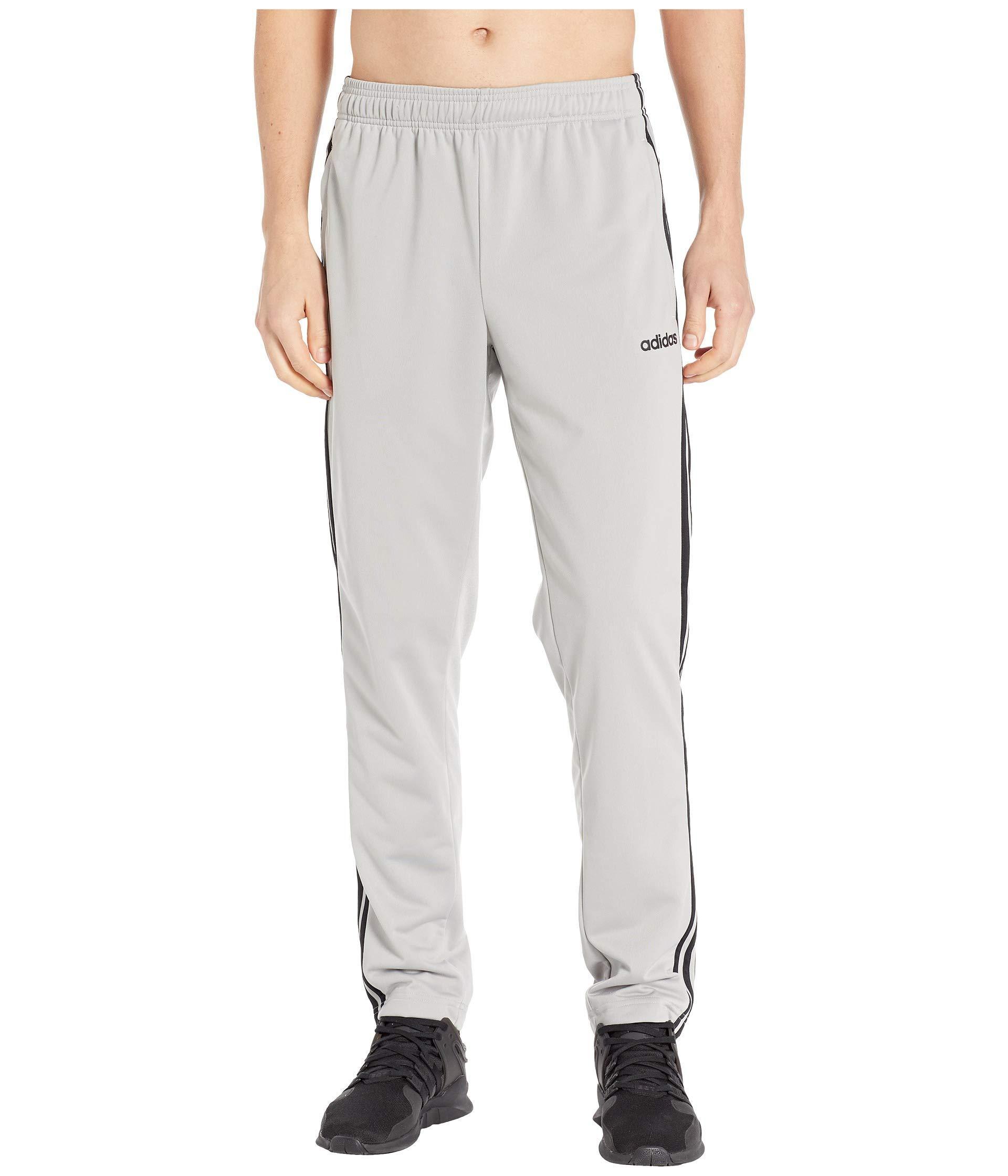 476854366 adidas Essentials 3-stripe Tricot Open Hem Pants (black/black) Men's ...