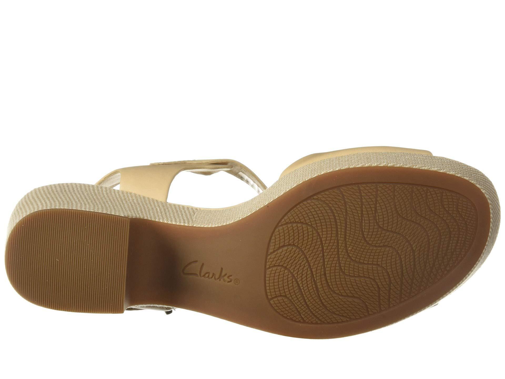 0cfefb84692f Clarks - Natural Maritsa Janna (black Leather) High Heels - Lyst. View  fullscreen