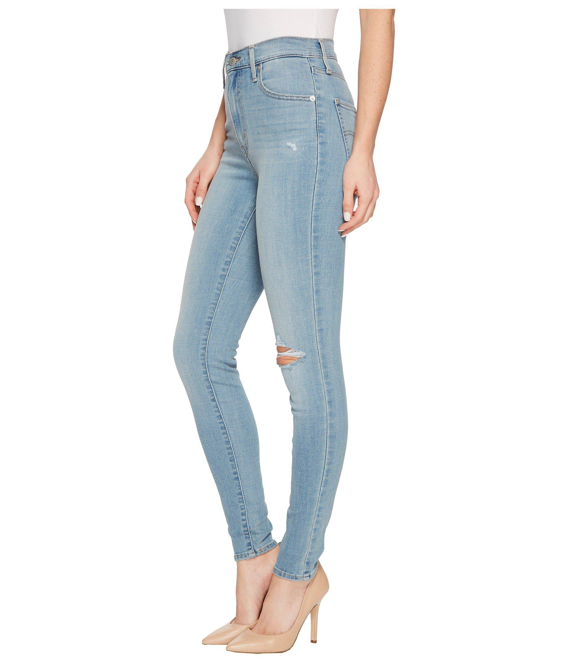 a032c02b03d Lyst - Levi s Levi s(r) Womens Mile High Super Skinny (real Deal) Women s  Jeans in Blue
