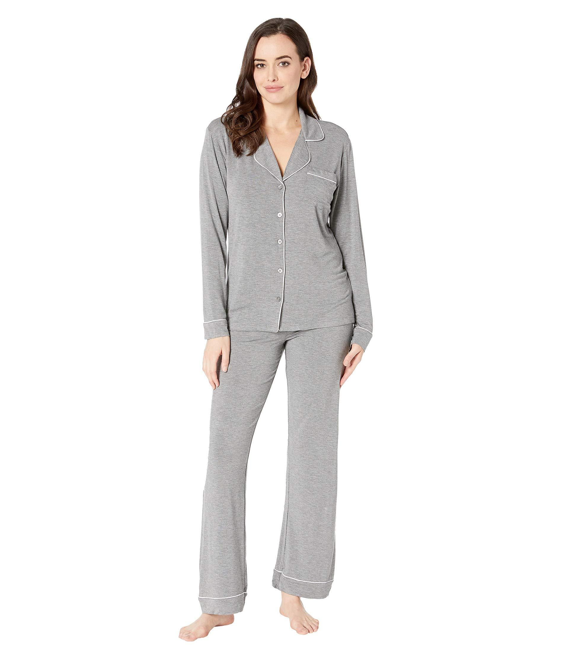 25a62d9e1cdb Lyst - UGG Lenon Long Sleeve Sleep Set (grey Heather) Women s Pajama ...
