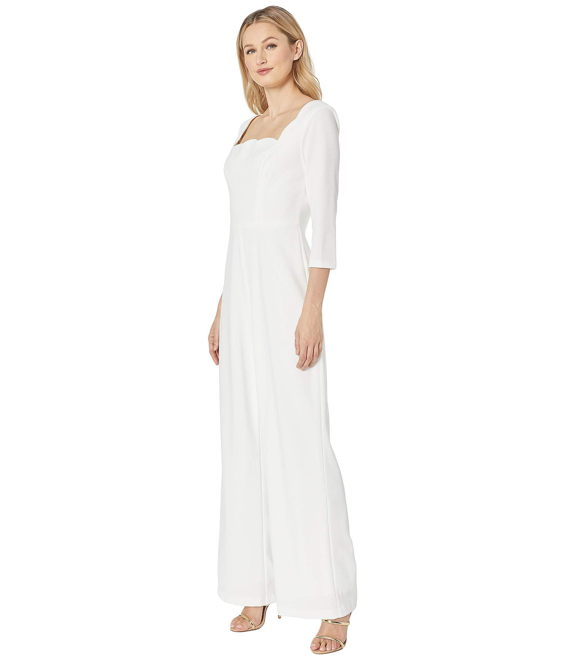 cd5b6ff462d1 Adrianna Papell Knit Crepe Scalloped Jumpsuit (ivory) Women's Jumpsuit &  Rompers One Piece in White - Lyst