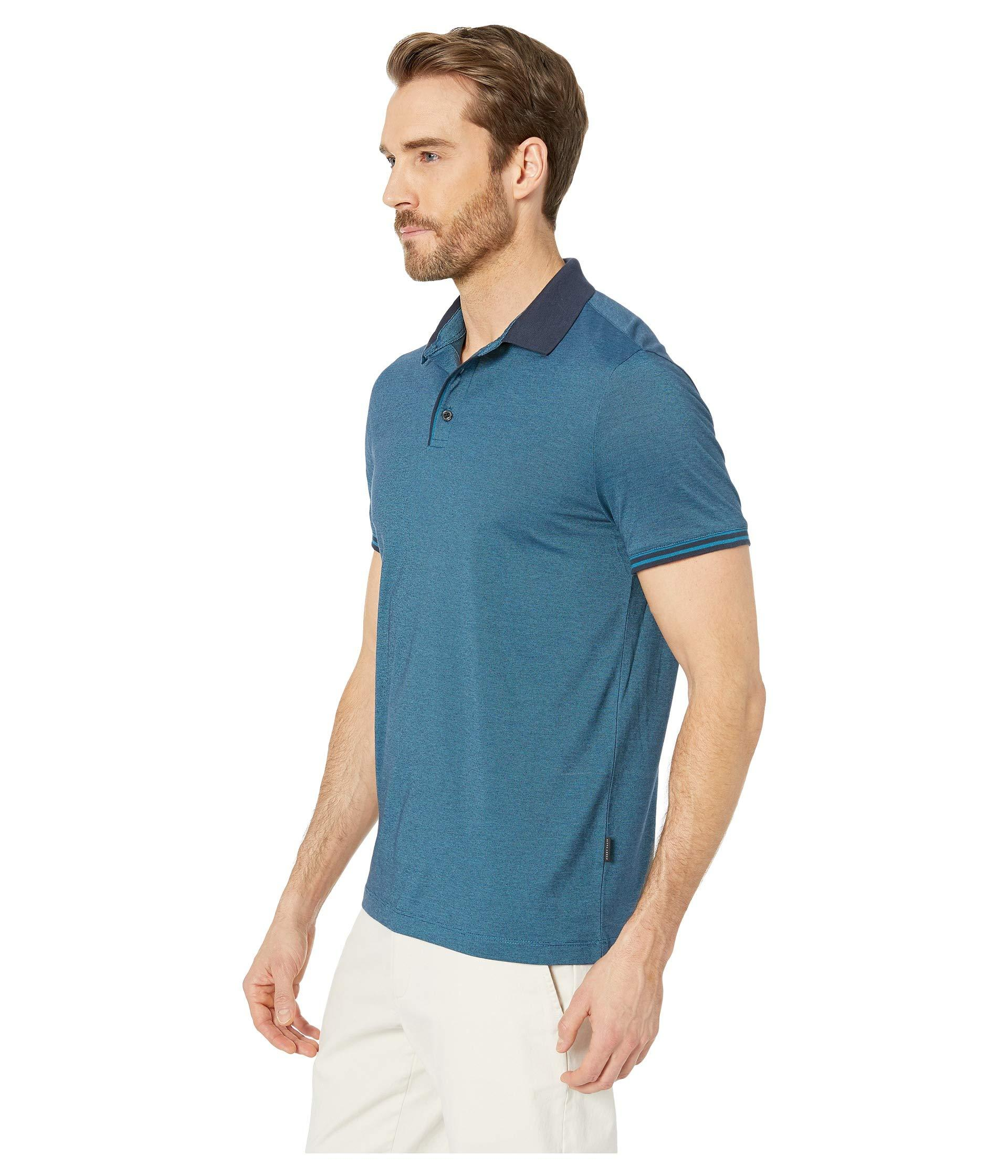 e2df2accac Lyst - Perry Ellis Essential End On End Polo (dark Sapphire 1) Men s  Clothing in Blue for Men