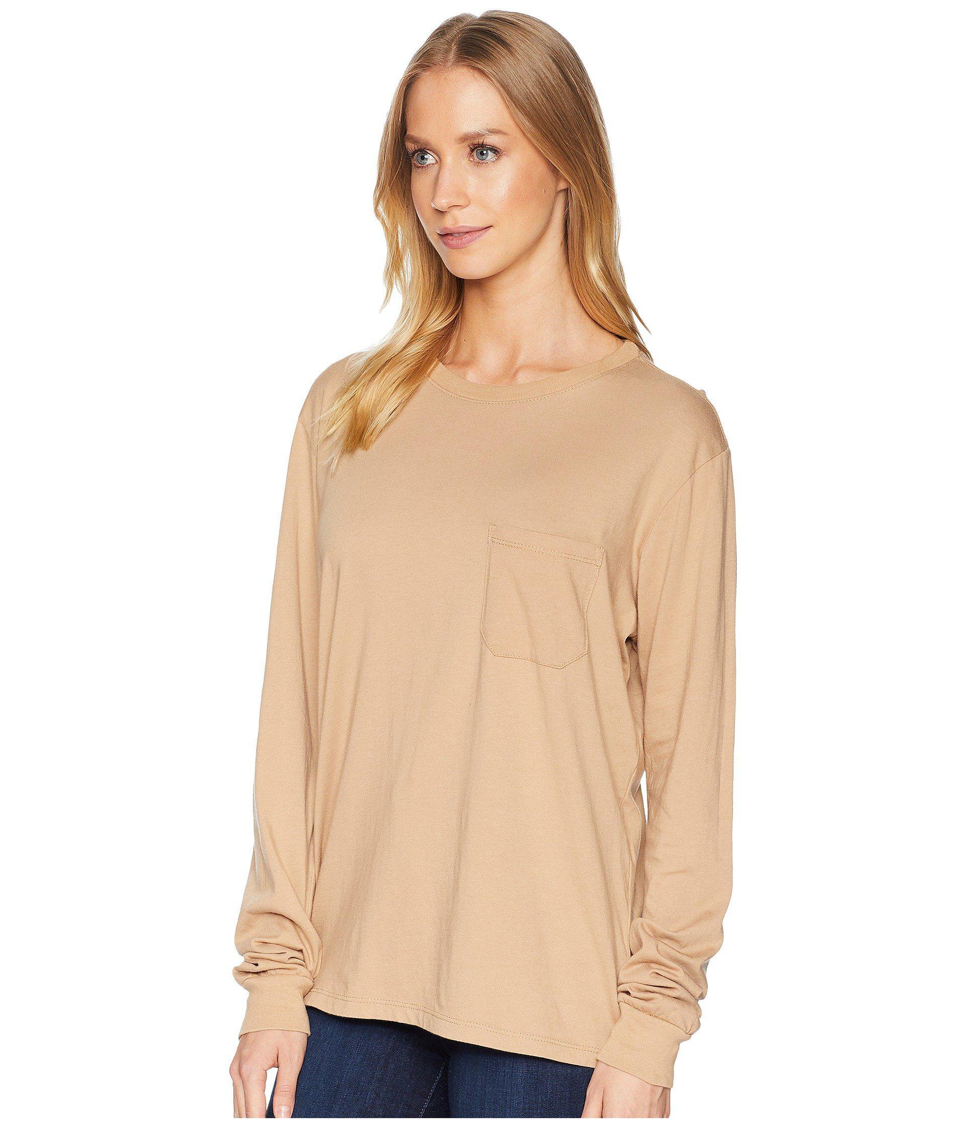 3f13d34b448 Lyst - Richer Poorer Long Sleeve Pocket Tee (green) Women s T Shirt in  Natural