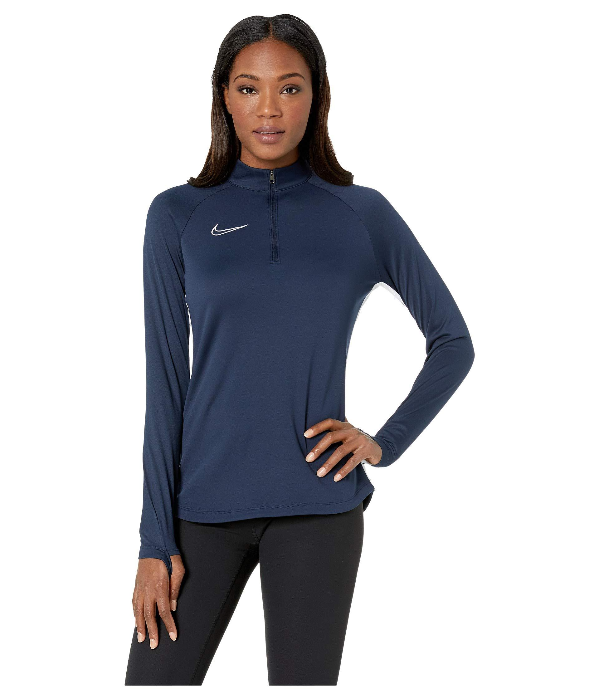 Lyst - Nike Dry Academy Drill Top (black white white) Women s ... e9a08856a