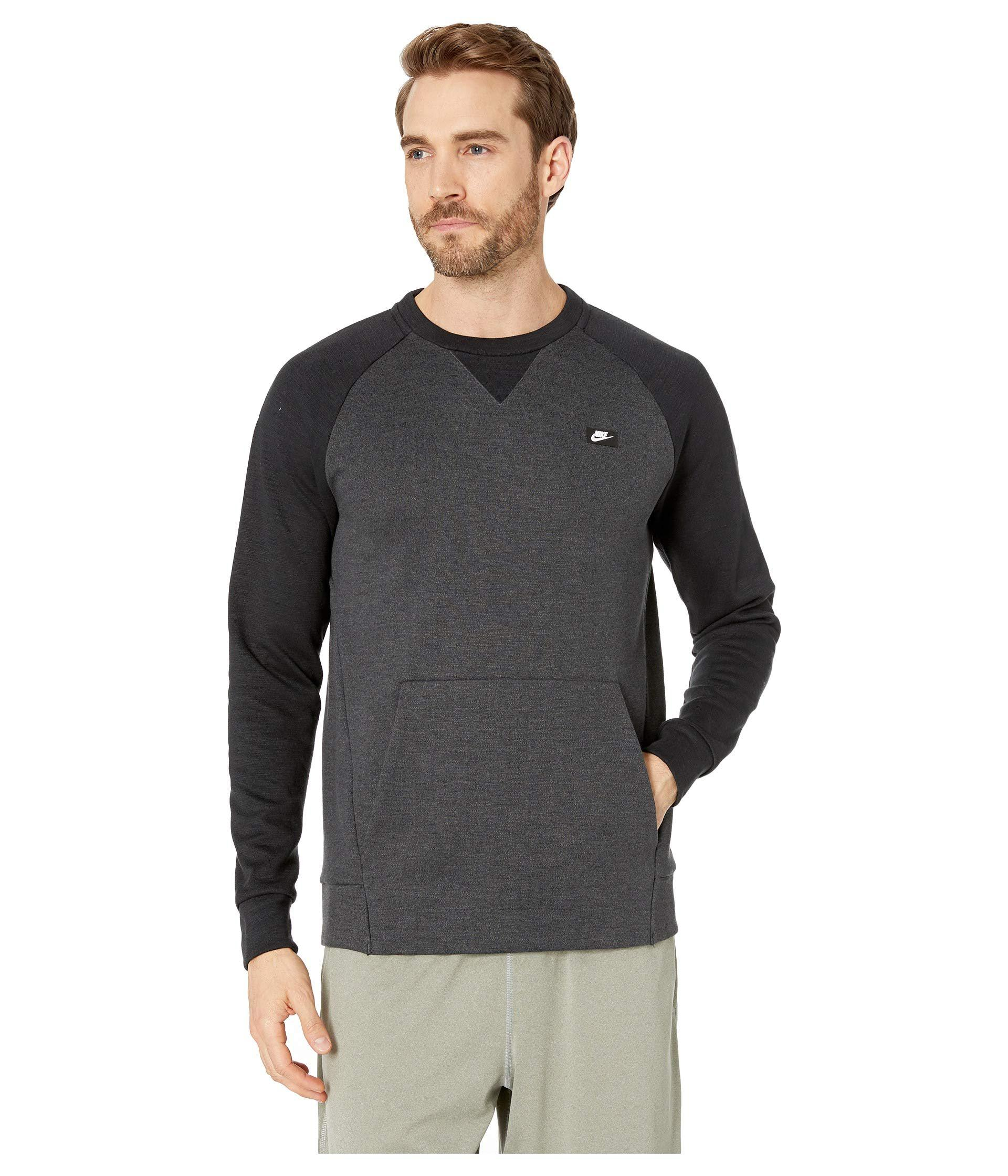 Lyst - Nike Nsw Optic Crew (dark Grey heather) Men s Clothing in ... 6426fb5f0