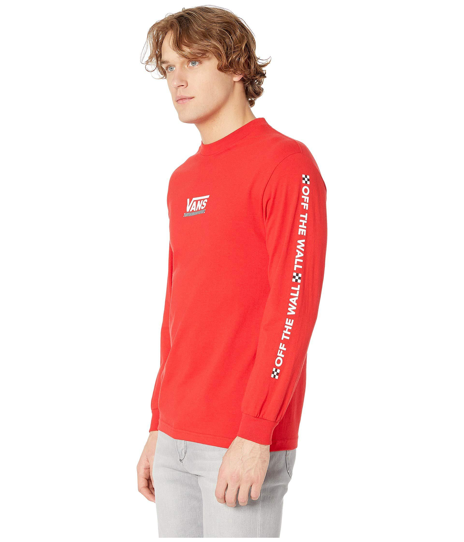 f757f6f07049 Lyst - Vans Checkmate Iii Long Sleeve T-shirt (racing Red) Men's Clothing  in Red for Men - Save 5%