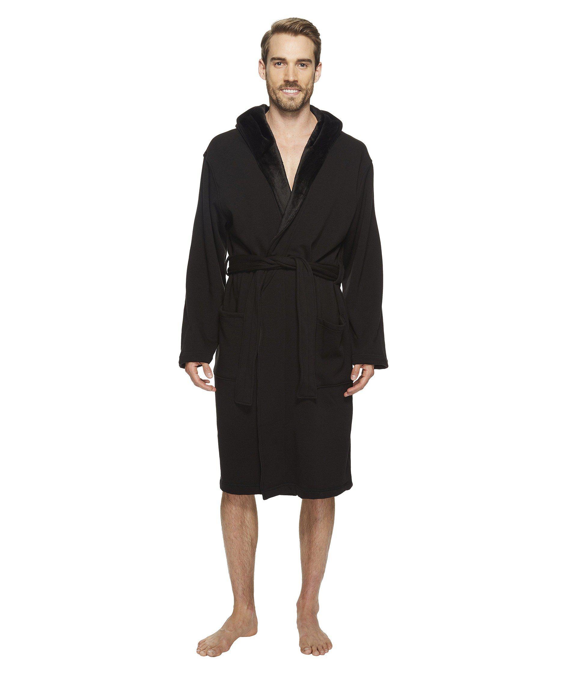 61b2551408 Lyst - UGG Brunswick Robe (rock Ridge Heather) Men s Robe in Black ...