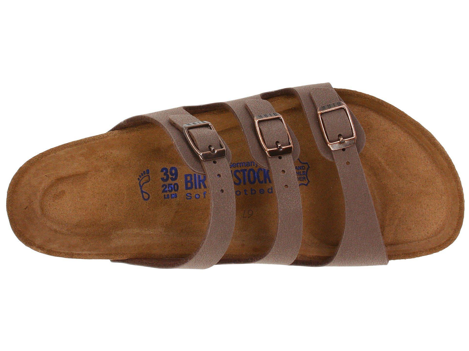 7edb6e0e942 Birkenstock - Brown Florida Soft Footbed - Birkibuc (mocha Birkibuc)  Women s Sandals - Lyst. View fullscreen