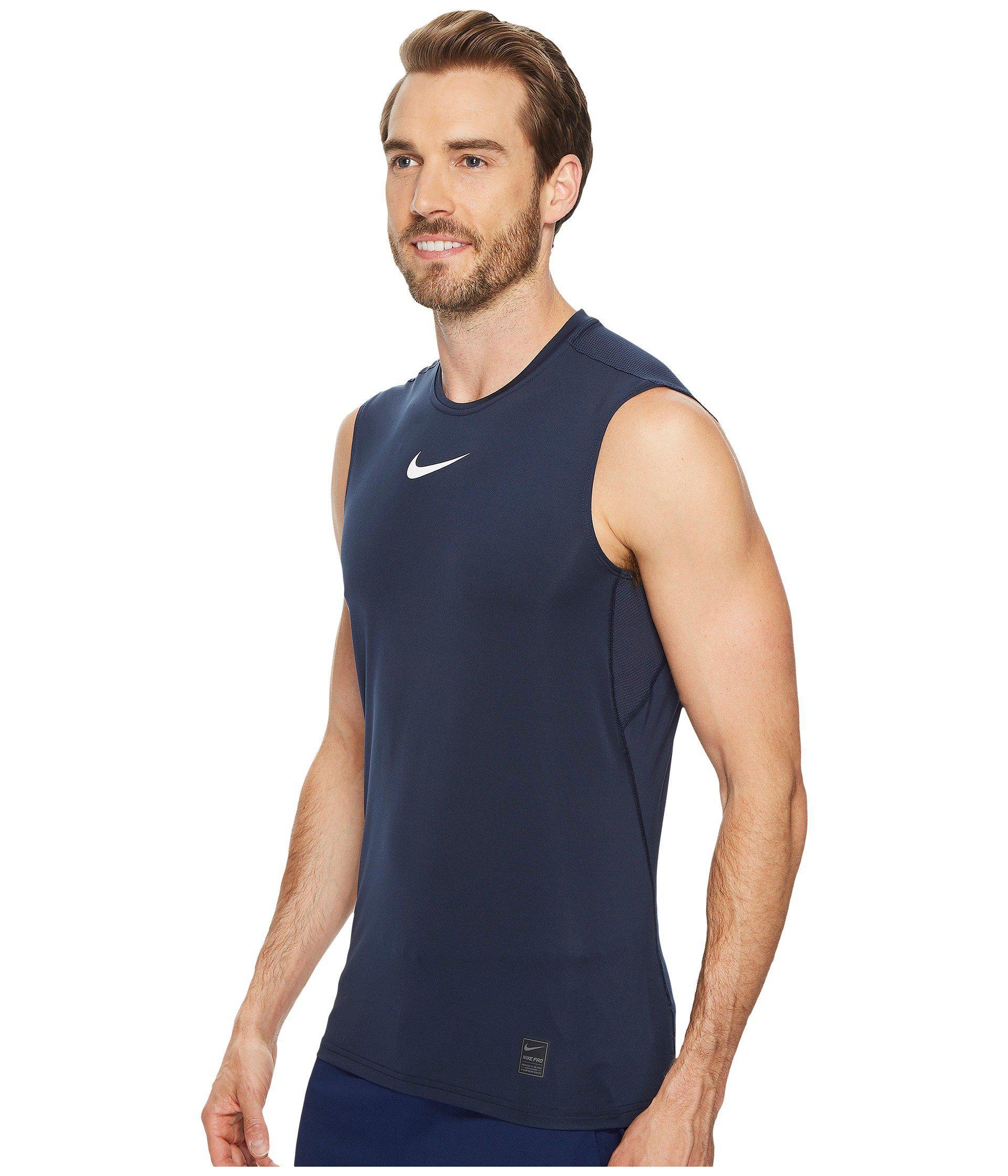 e11b3c06cc325 Lyst - Nike Pro Fitted Sleeveless Training Top (black white white) Men s  Sleeveless in Black for Men