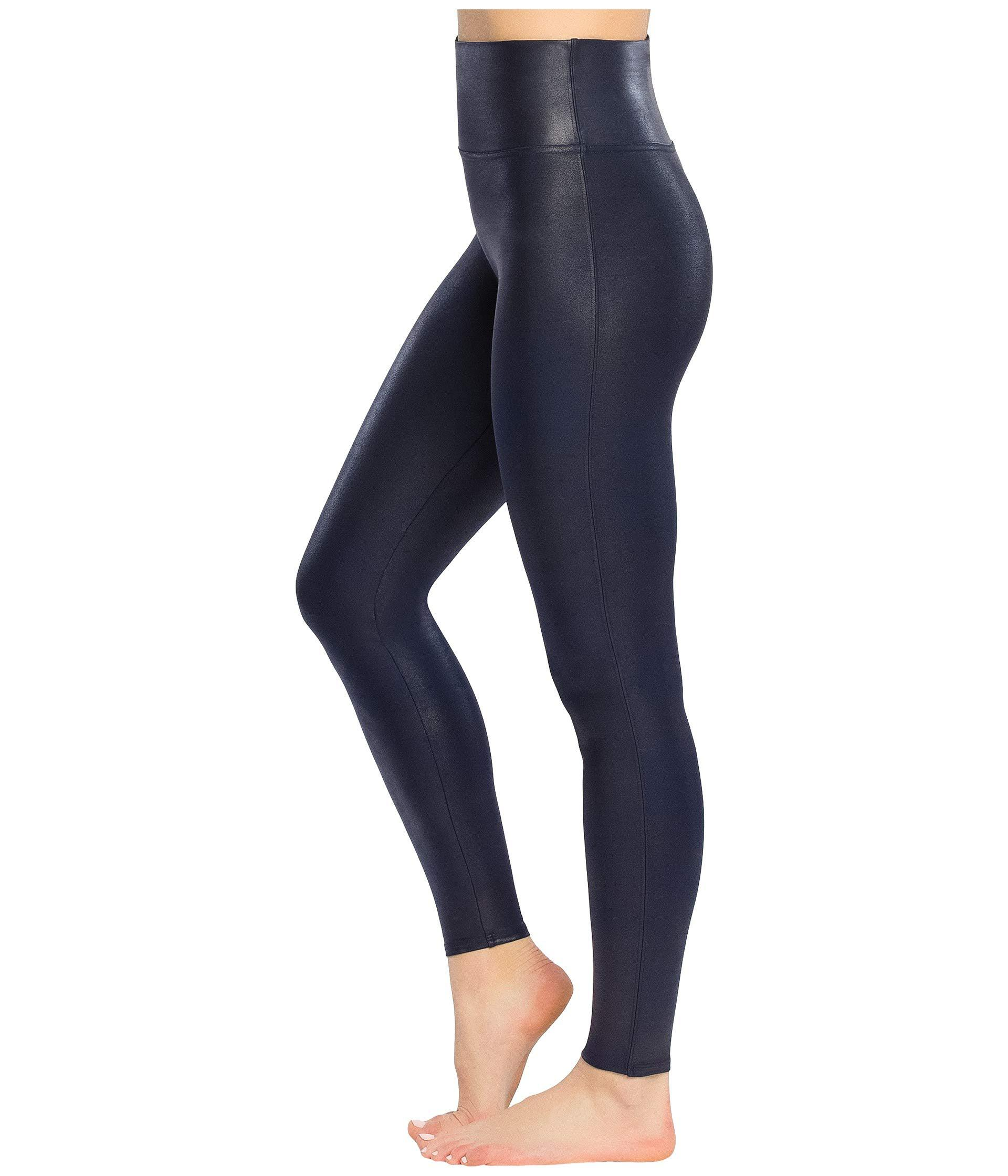 45e763b8aed17 Lyst Spanx Faux Leather Leggings Night Navy Women S Casual Pants