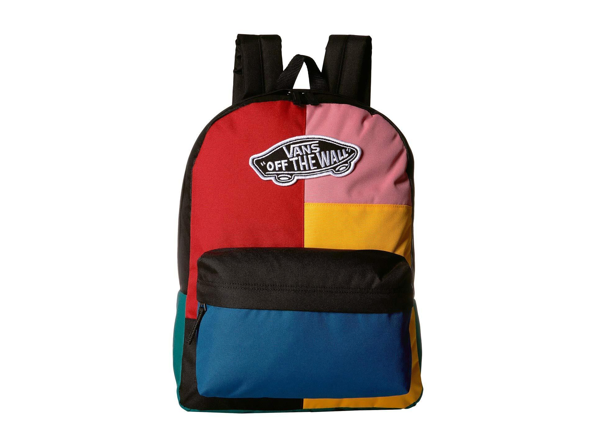 a7bd7d327d Lyst - Vans Realm Backpack (satin Floral) Backpack Bags in Blue