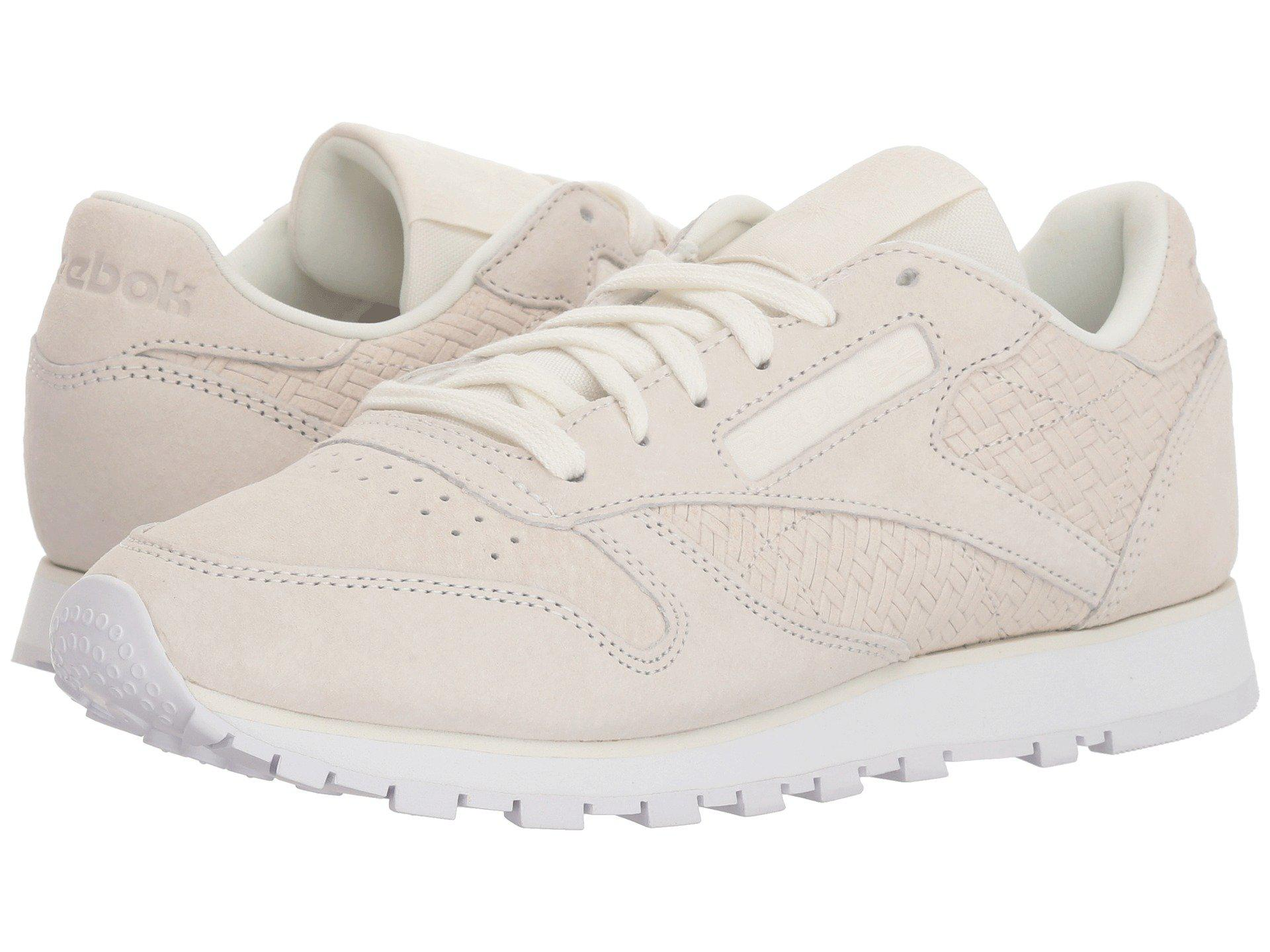 5df9575da4a Reebok. Classic Leather Woven Embossed (chalk white) Women s Classic Shoes