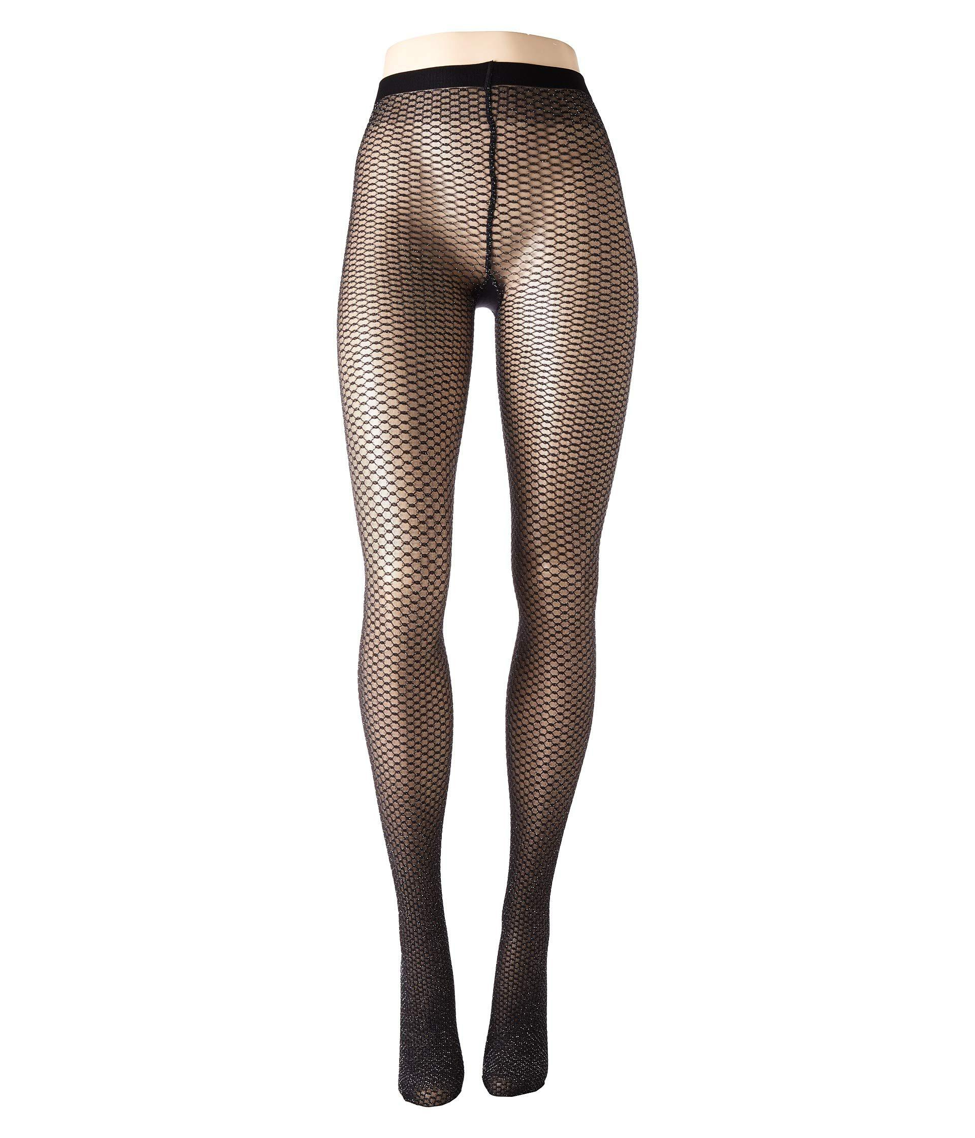 ad61a390b62 Wolford Night Sparkle Tights (black silver) Hose in Black - Lyst