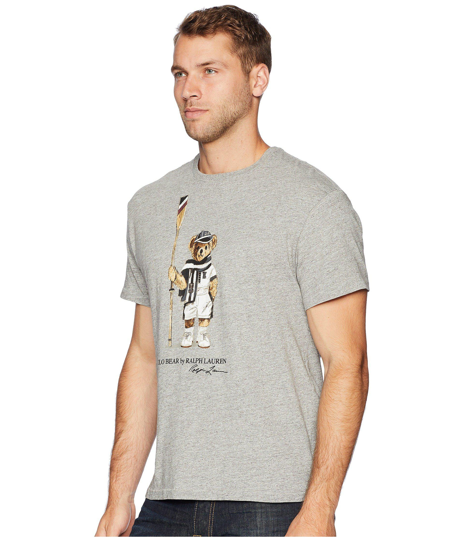132bb5723 Polo Ralph Lauren - Gray Polo Bear Player Crew T-shirt (bronx Heather).  View fullscreen