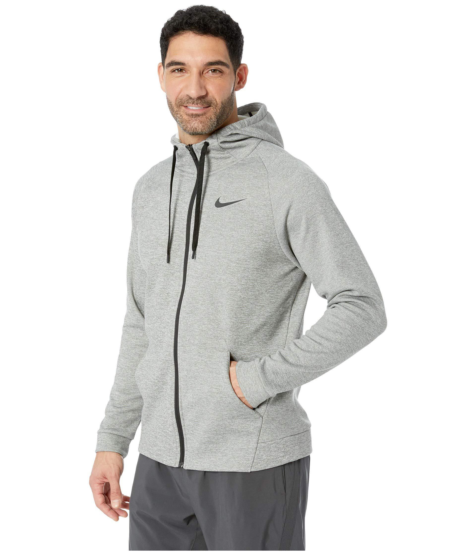 cce6f91051469 Lyst - Nike Dri-fit Therma Men s Full-zip Training Hoodie (white black) Men s  Sweatshirt in Gray for Men