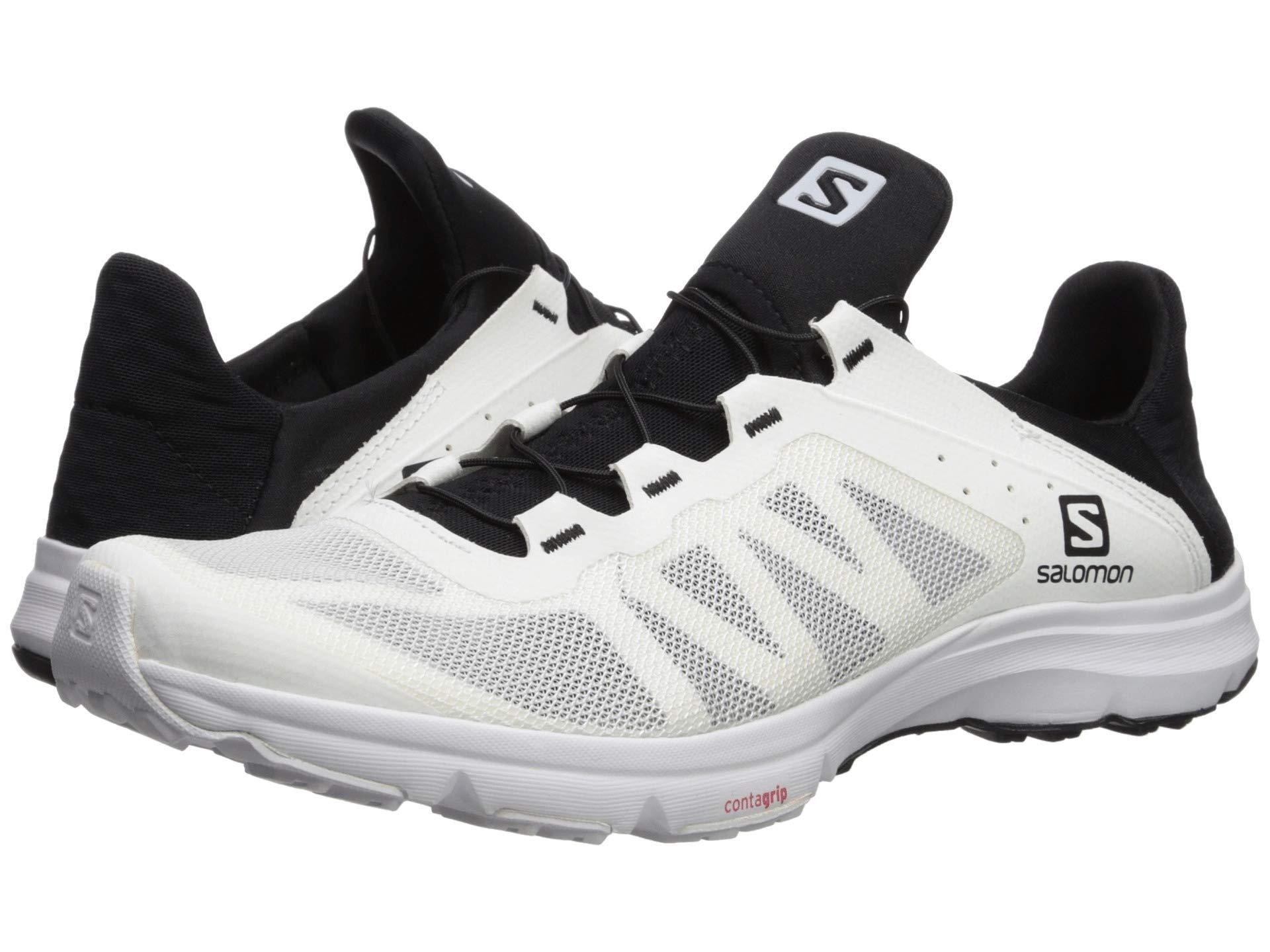 2f33d833468 Yves Salomon Amphib Bold (white/white/black) Men's Shoes in Black ...