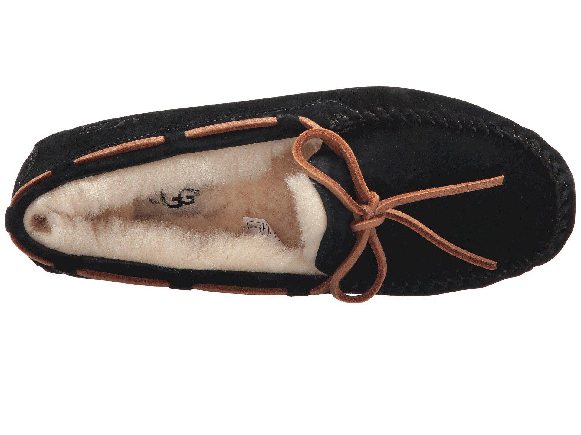 6dc3d34585e7a Ugg - Black Dakota (pewter Suede) Women s Moccasin Shoes - Lyst. View  fullscreen