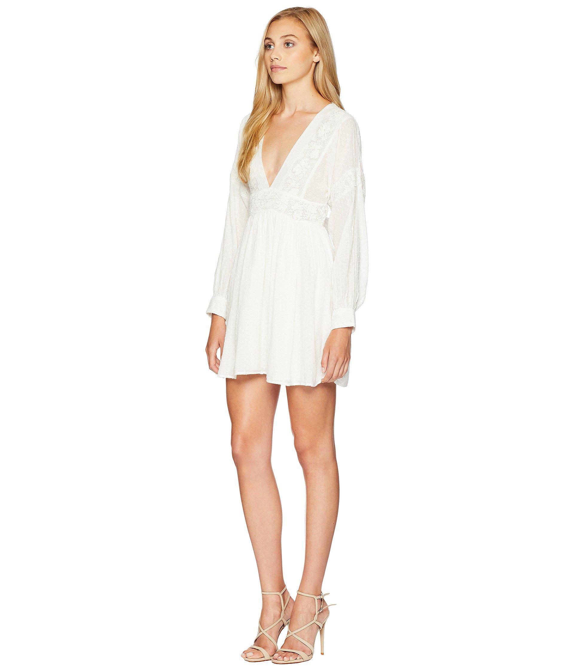 4fc253ea3bb0 Free People Sugarpie Mini Dress (white) Women's Dress in White - Lyst
